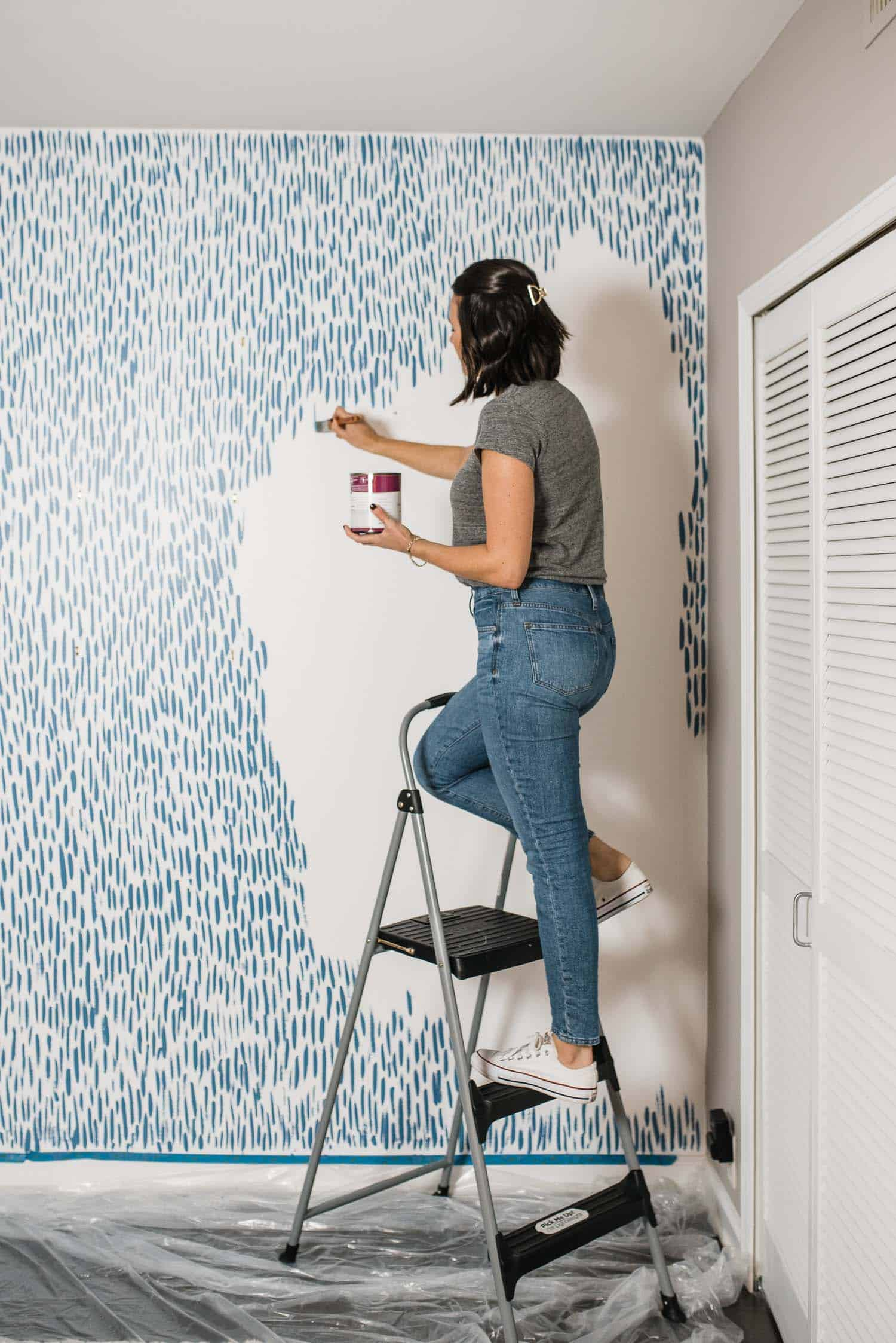 DIY Brushstroke Accent Wall Tutorial