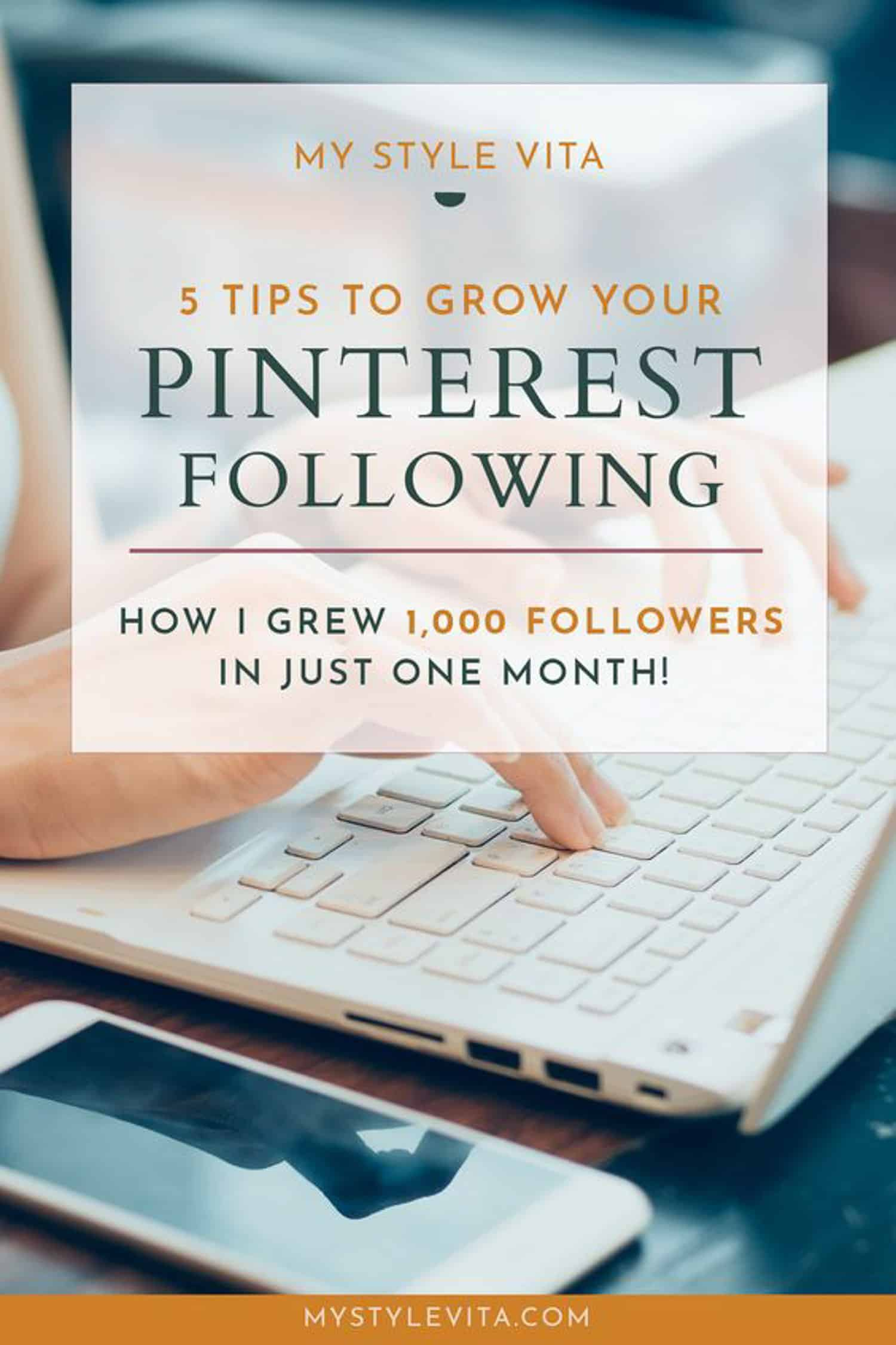 tips to grow your pinterest following and blog traffic