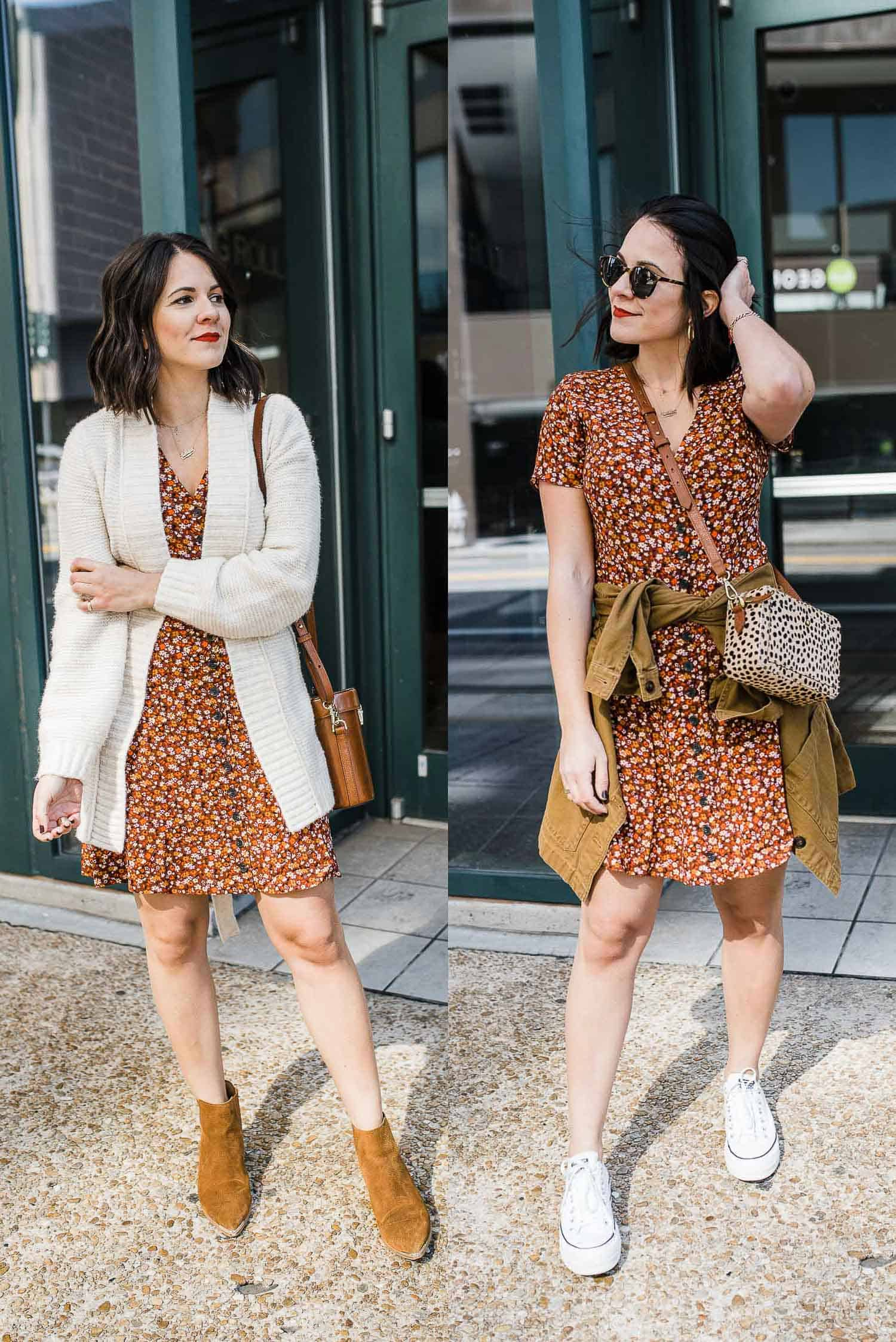 2 ways to style a floral spring dress