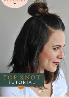 How To Do The Half Top Knot On Short Hair An Indigo Day