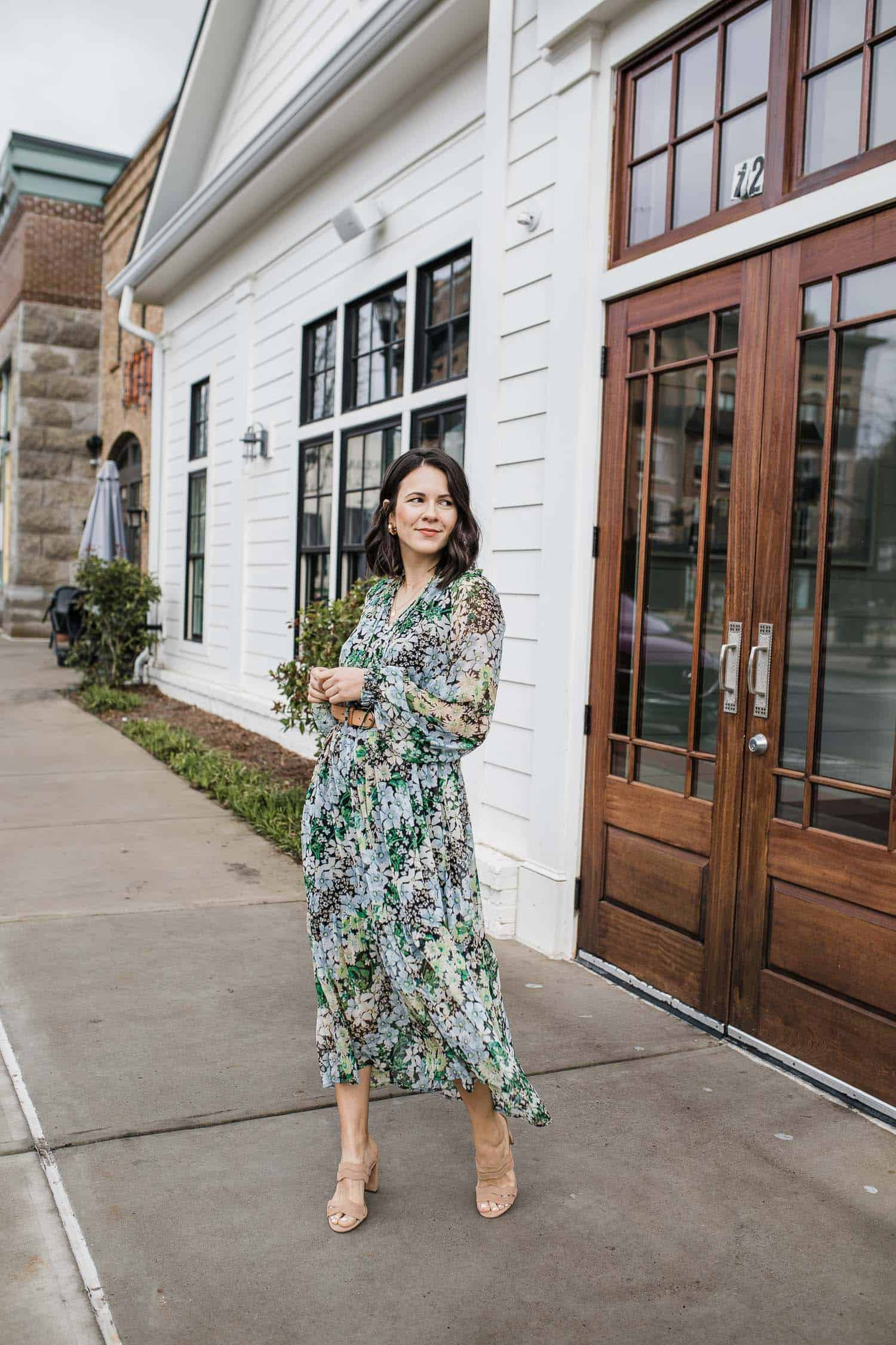 H&M Floral midi dress for summer