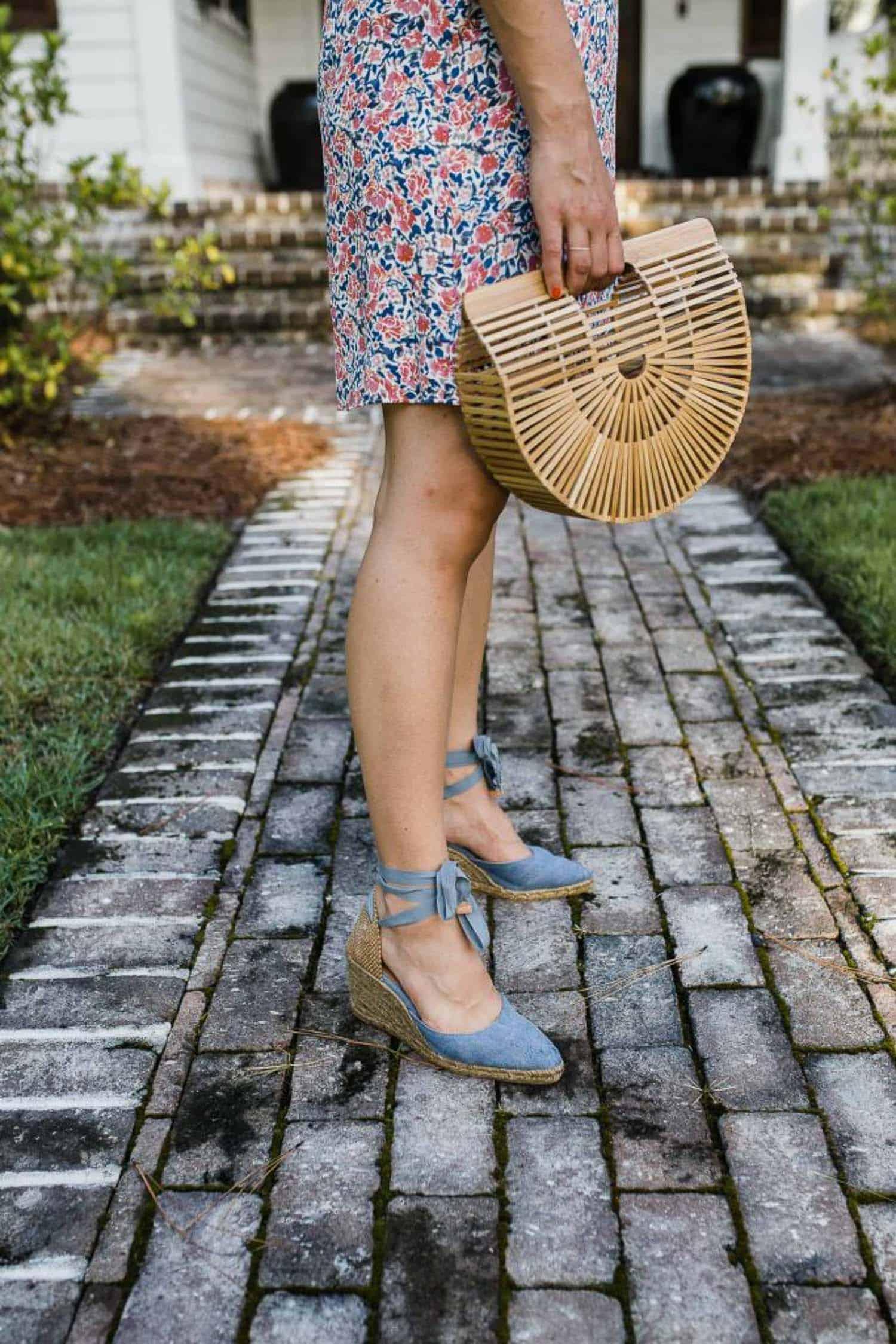My Style Vita outfit details: 1 State Floral Mini Dress, Castaner Espadrilles, Cult Gaia Bag