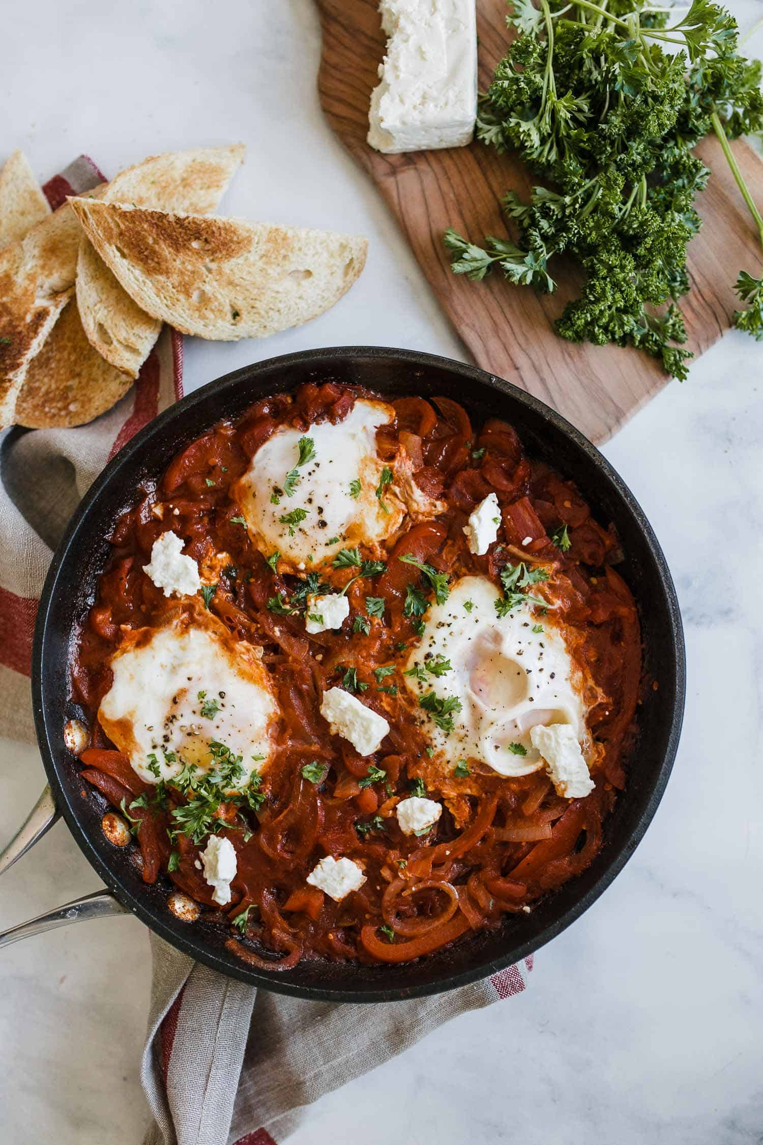 shakshuka recipe with feta cheese
