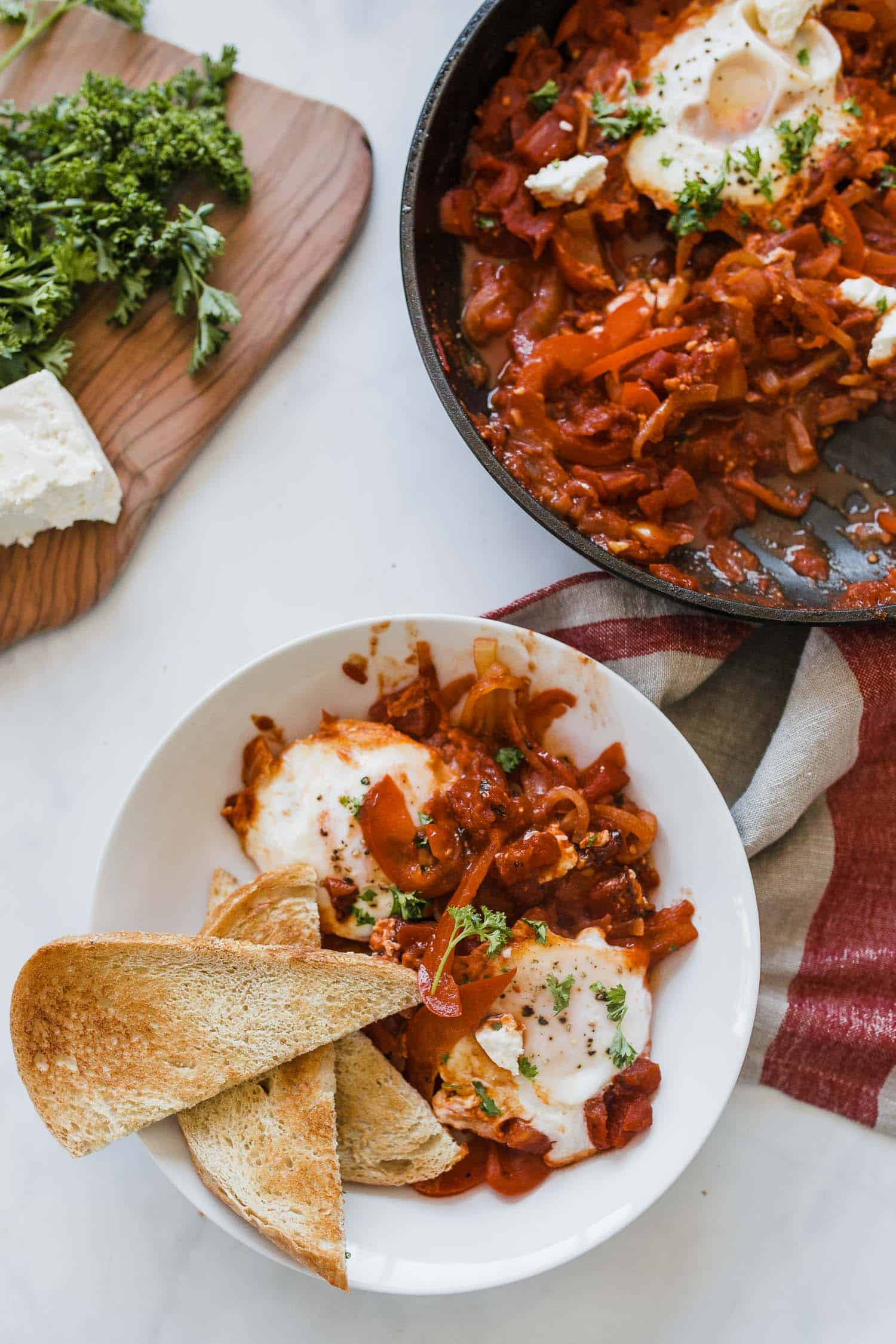 shakshuka breakfast recipe with feta