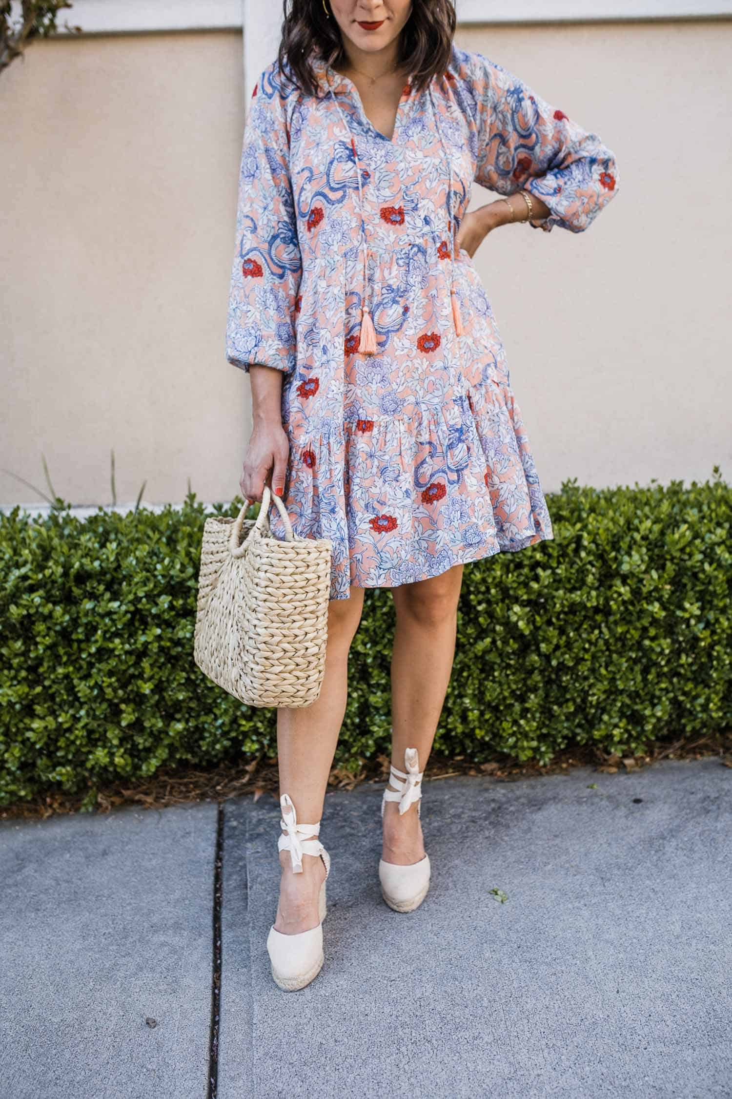 flowy summer dress with espadrilles