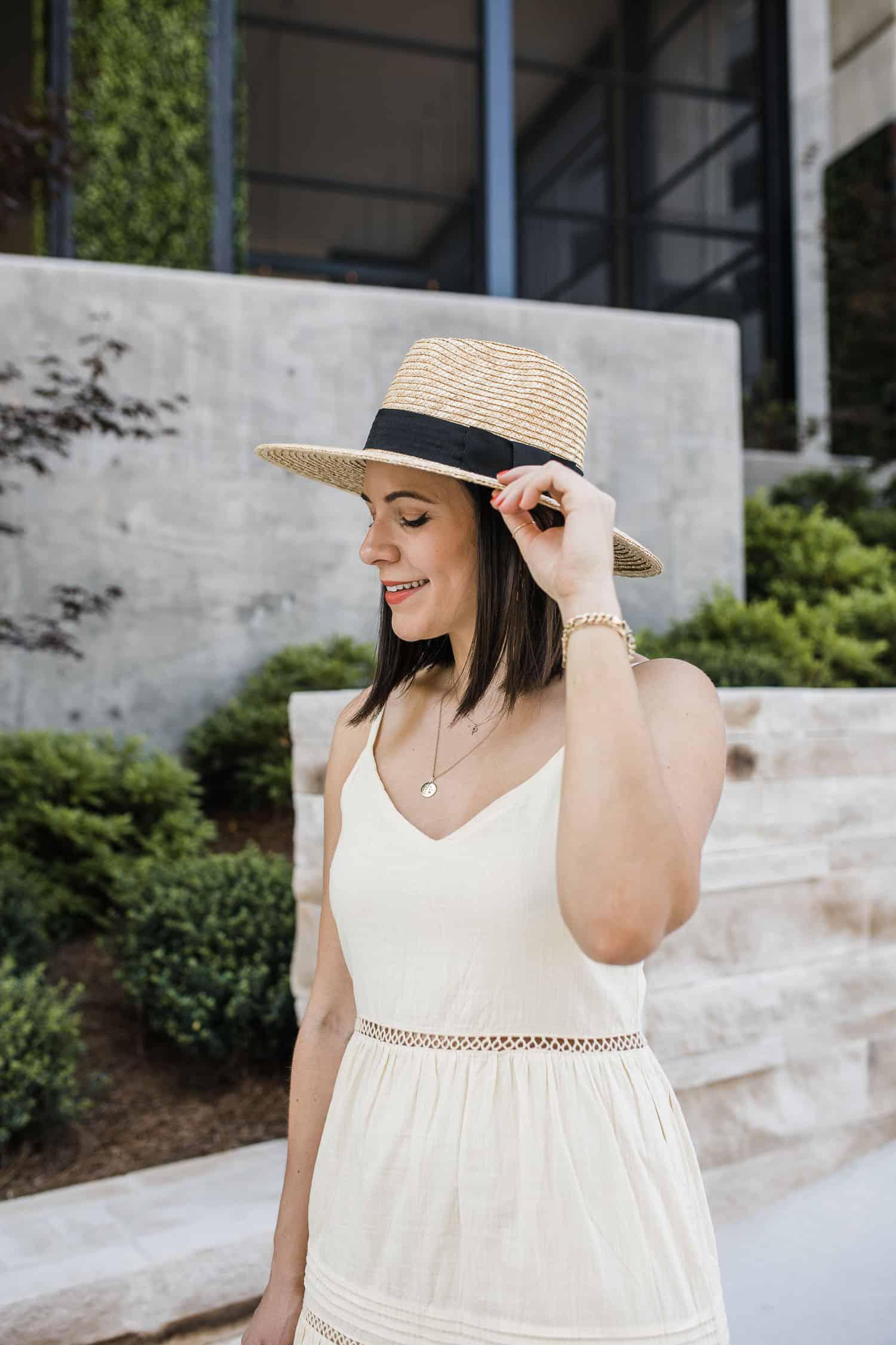 Brixton hat on Jessica Camerata