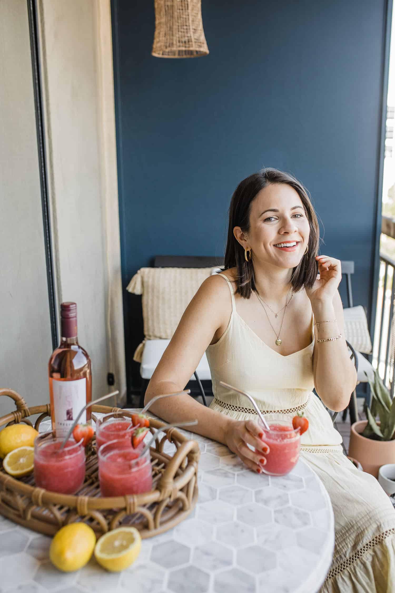 Jessica Camerata shares her strawberry lemon frose recipe for summer