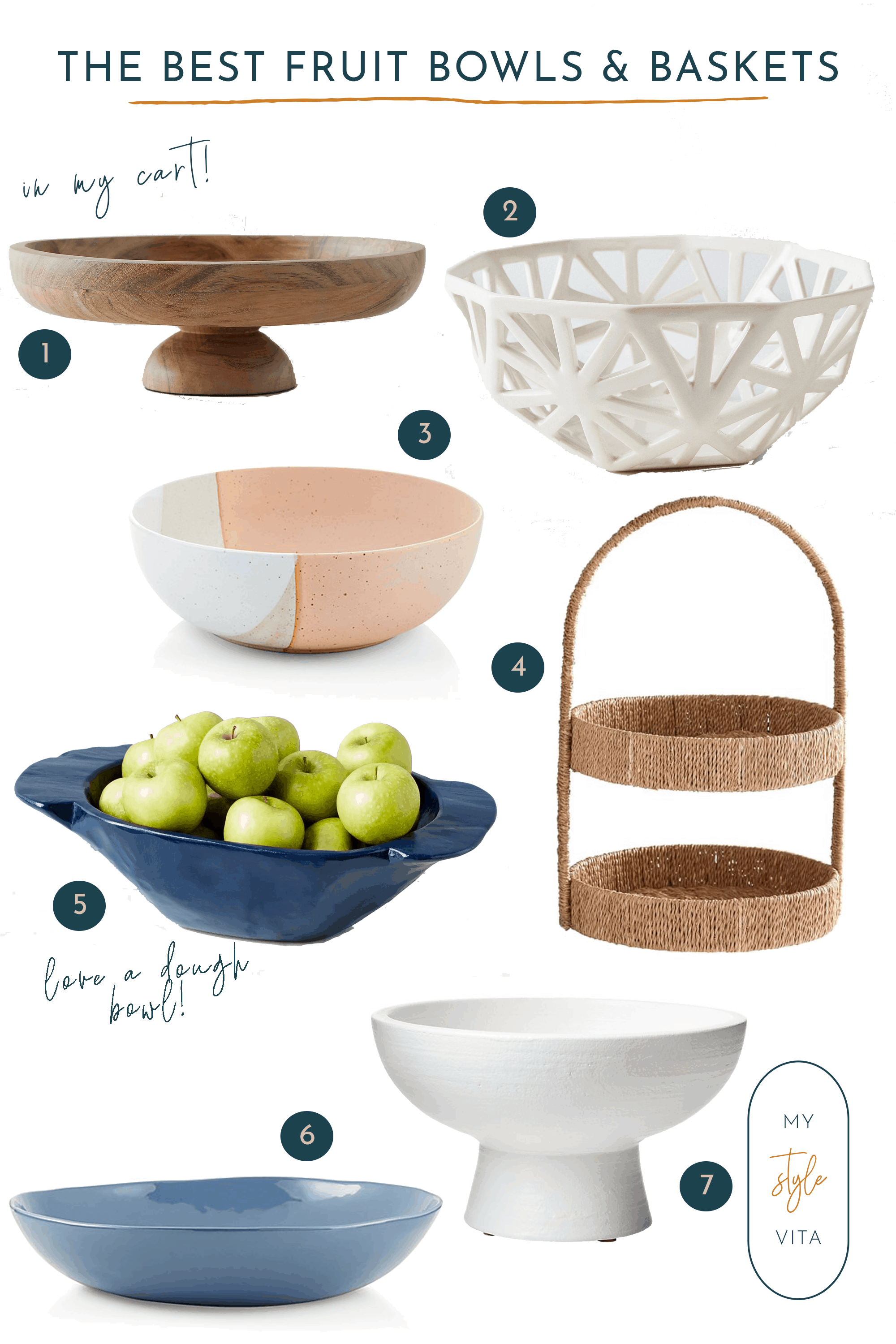 best fruit bowls and baskets