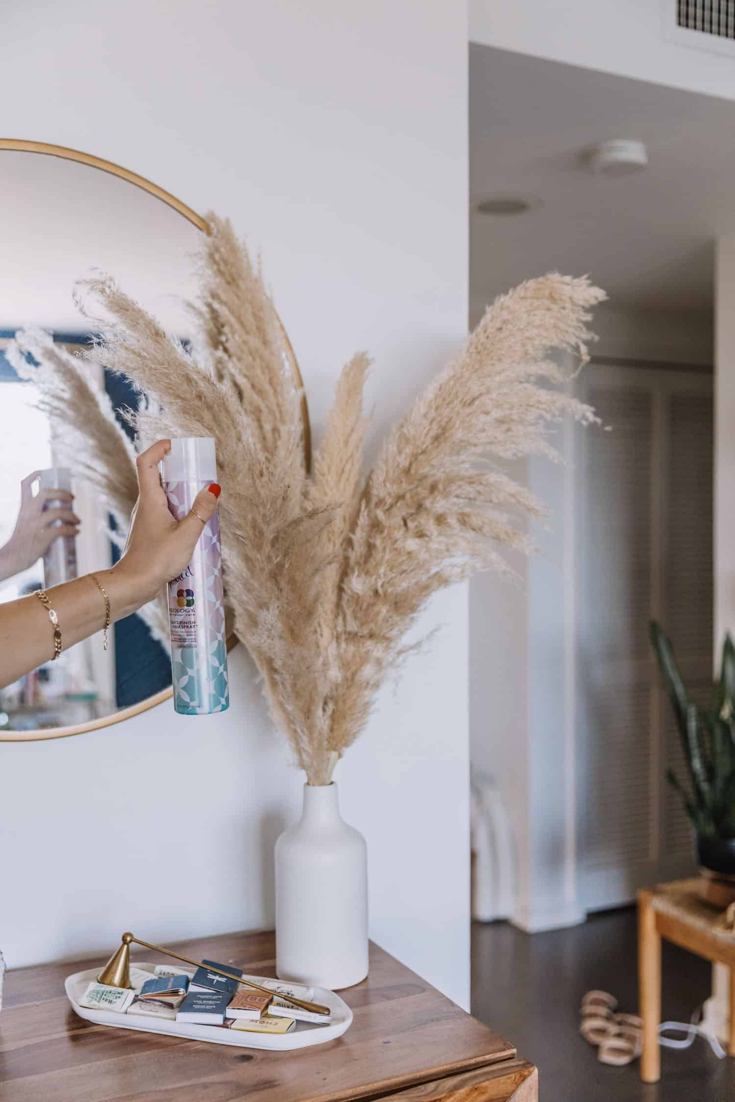 how to keep pampas grass from shedding