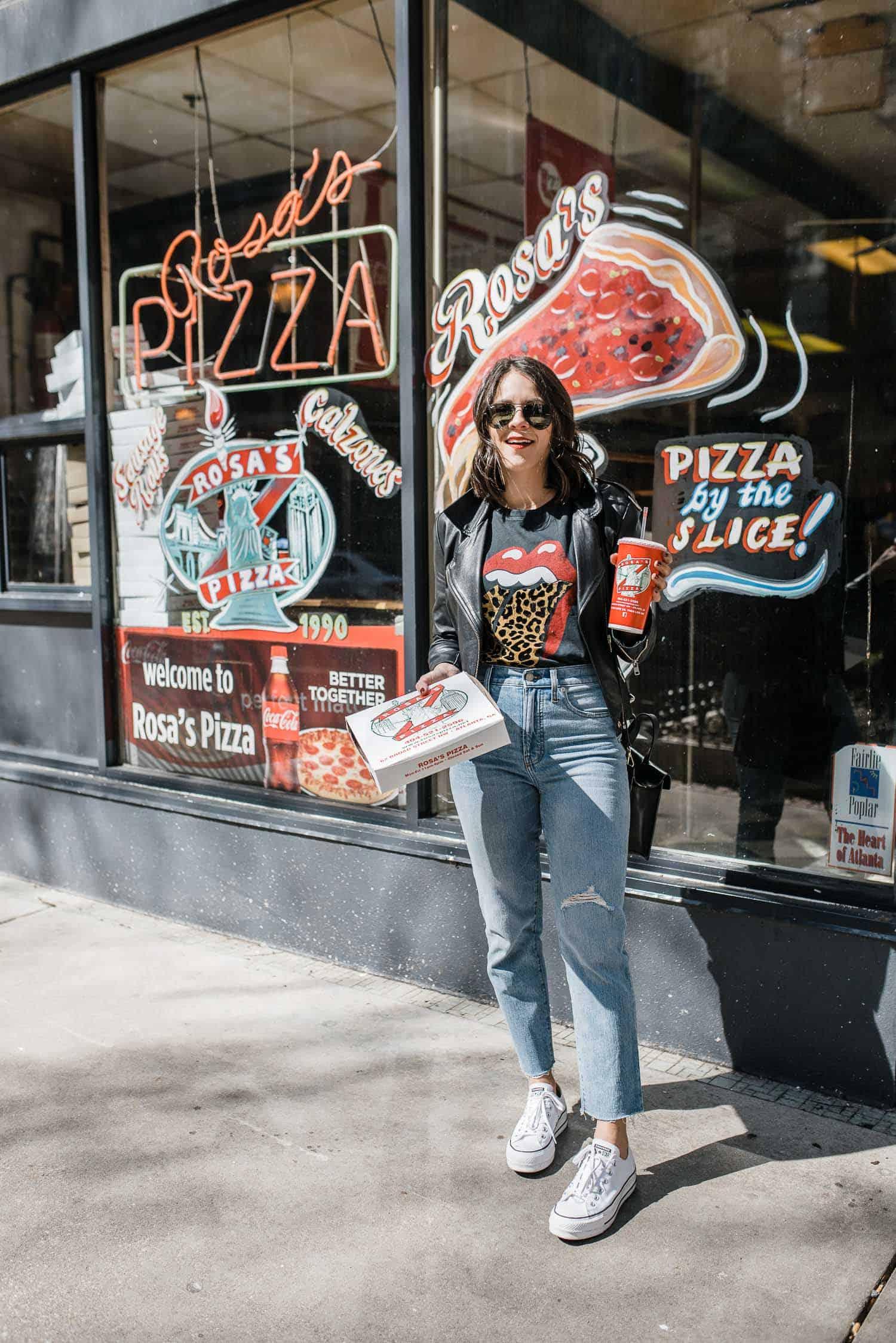 Getting pizza in Atlanta