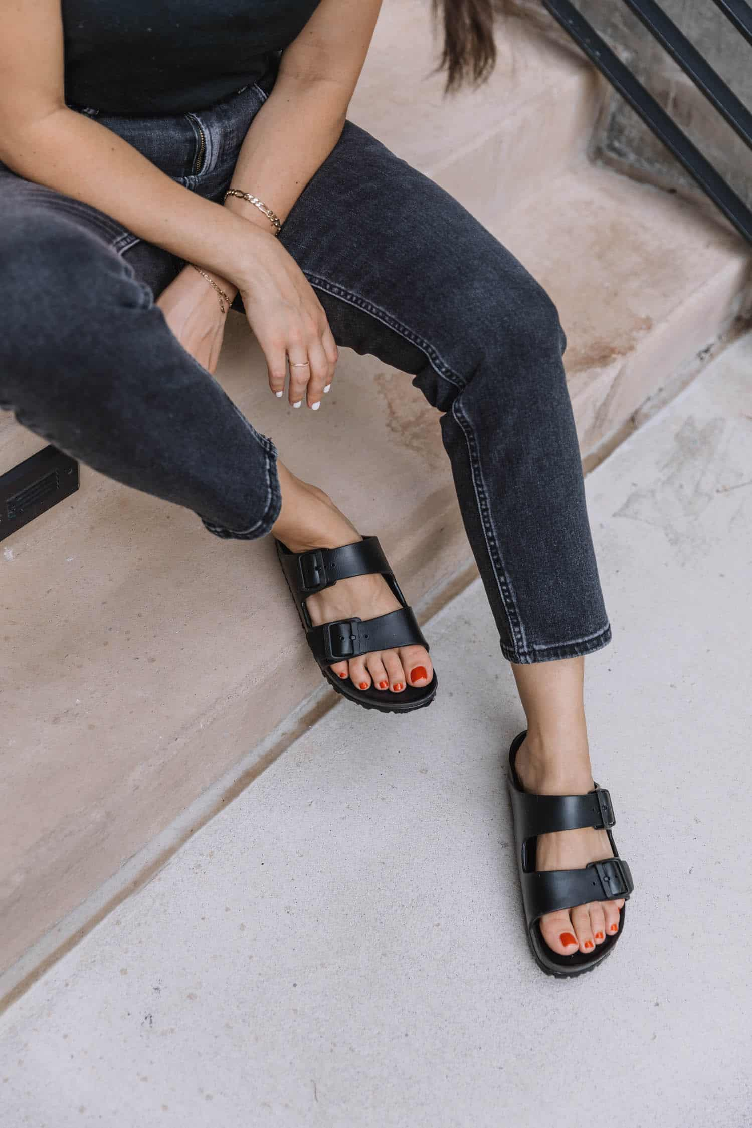 Black Birkenstock Arizona Eva Sandal, Plastic Birkenstock Sandals | How To Style The Plastic Birkenstocks