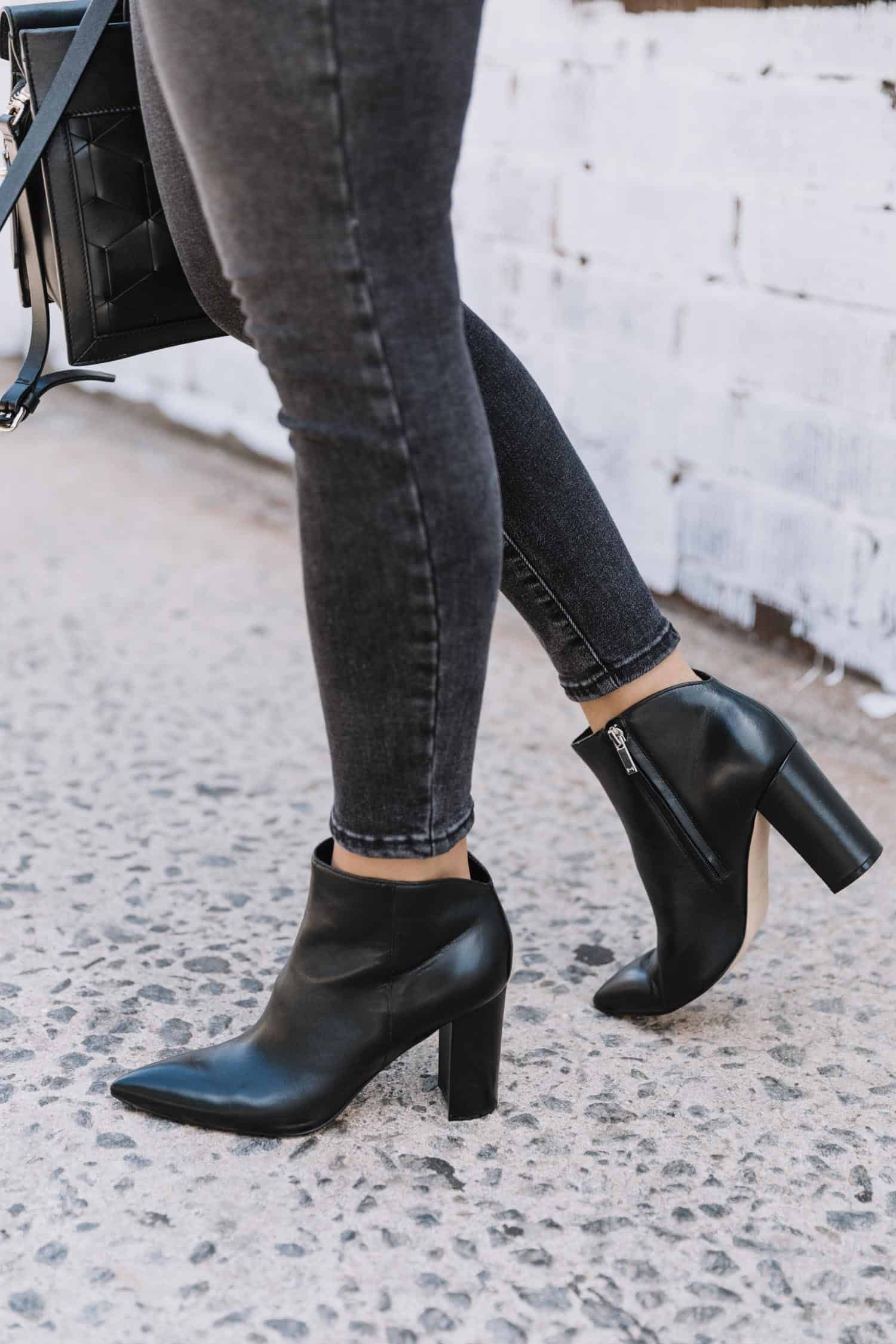 marc fisher unno booties with black jeans