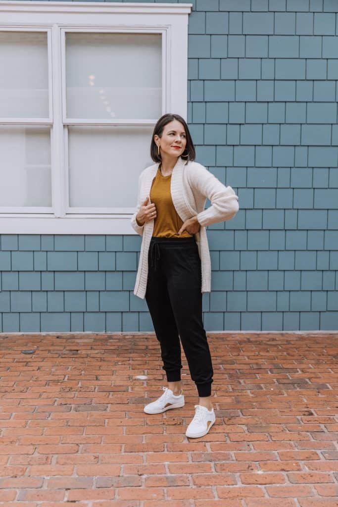 cardigan with joggers