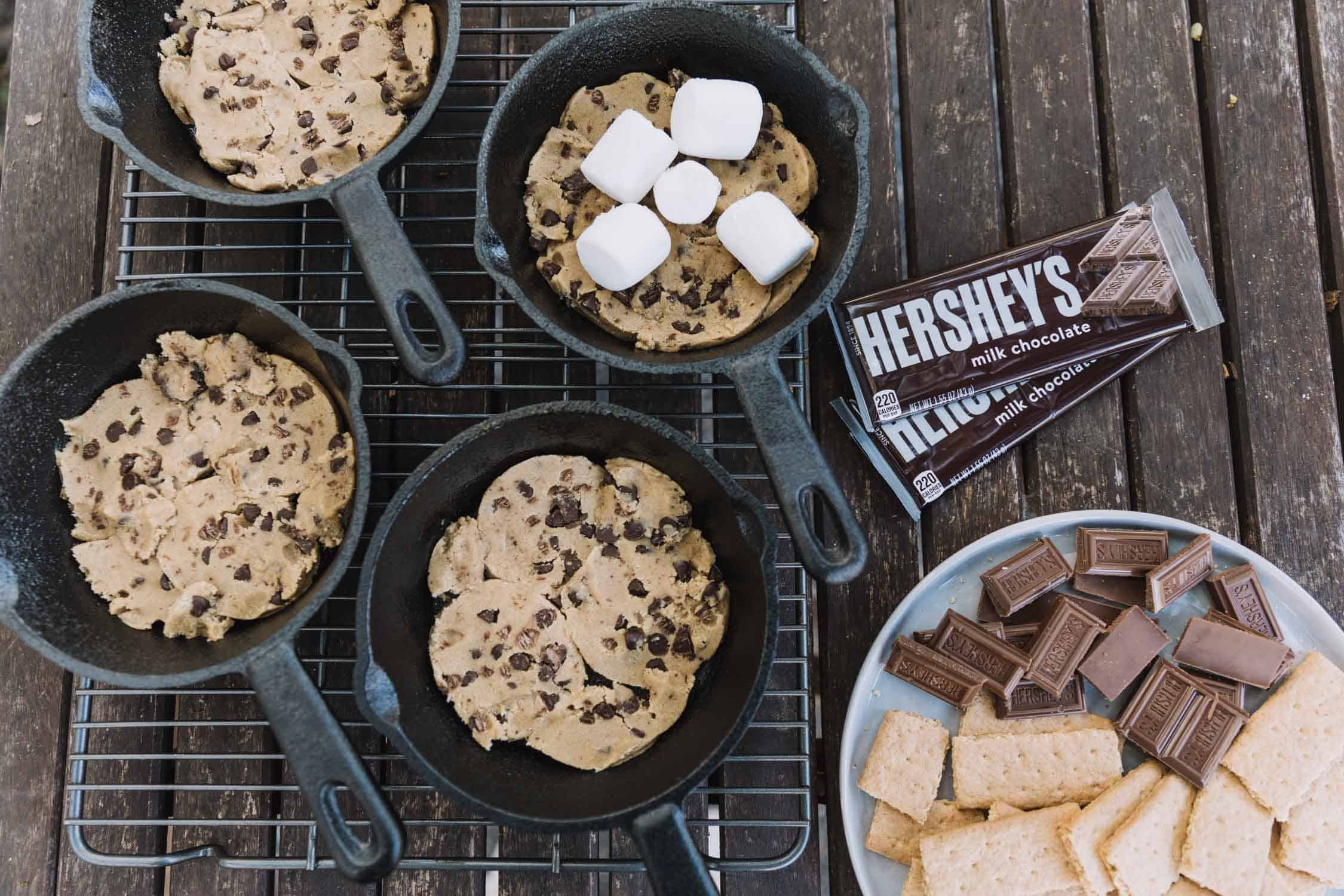 smores cookie setup