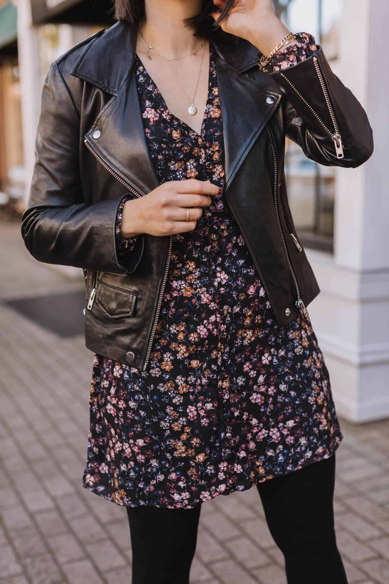leather jacket fashion