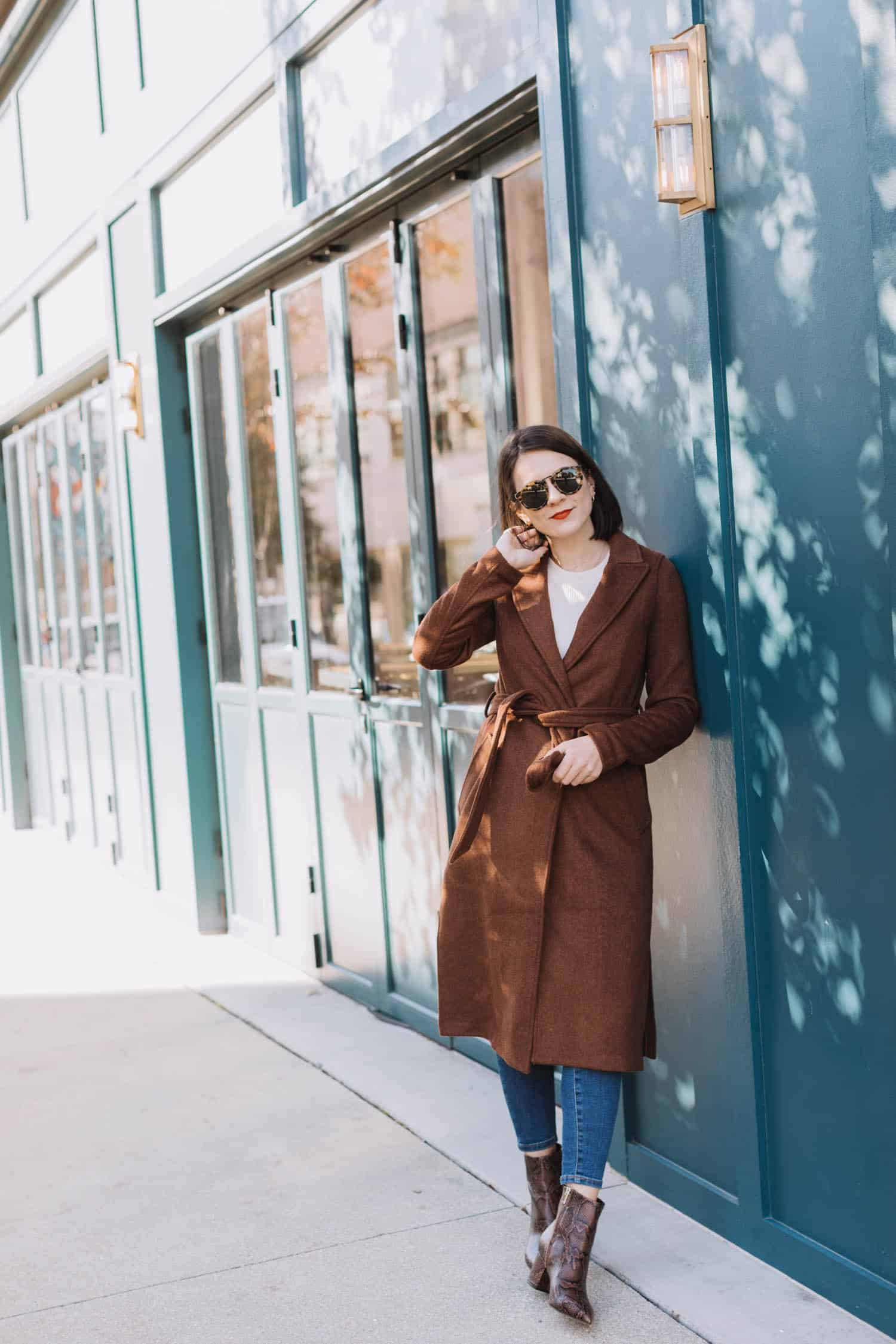 Mixing Statement Booties With Coats