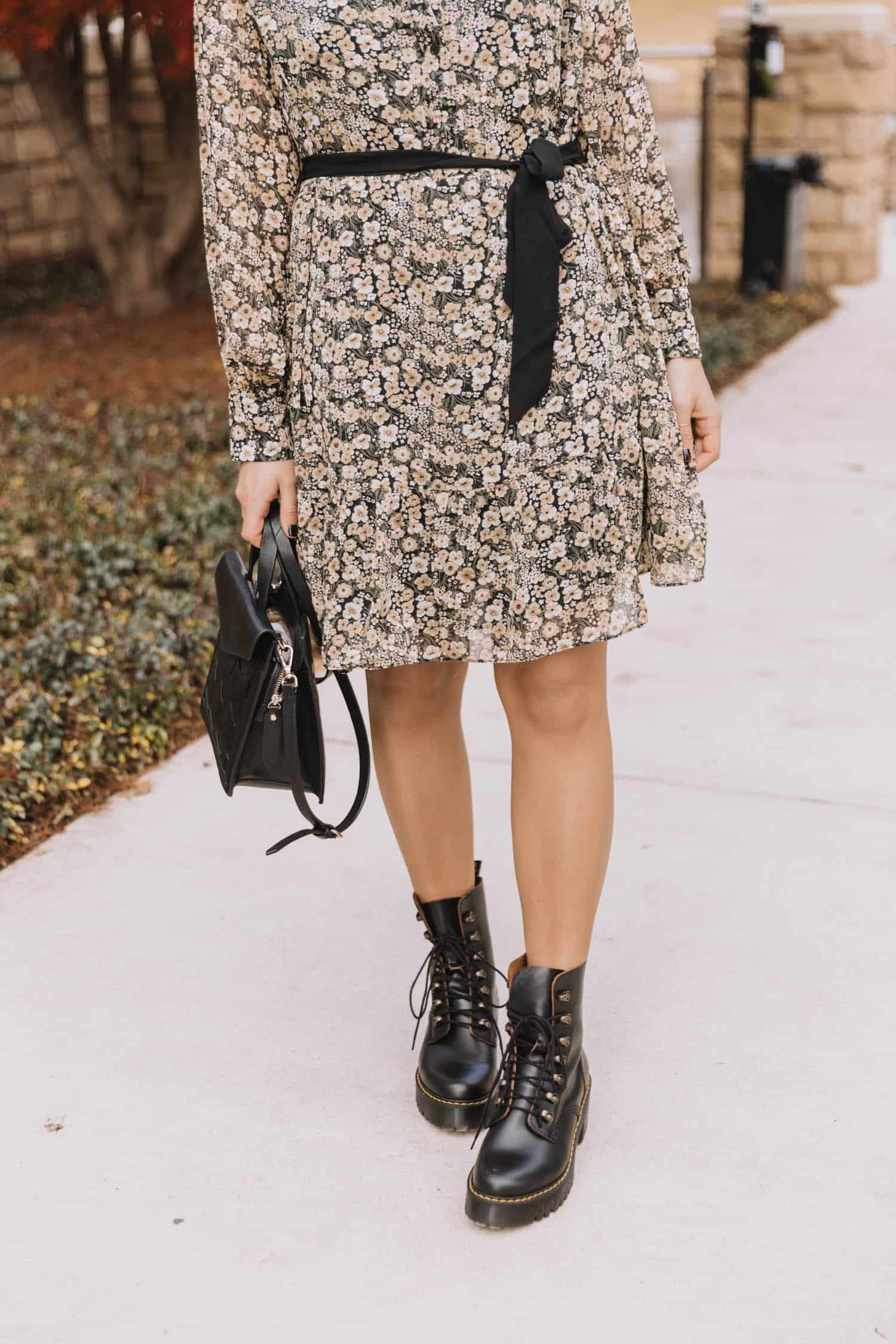 combat boots and dress