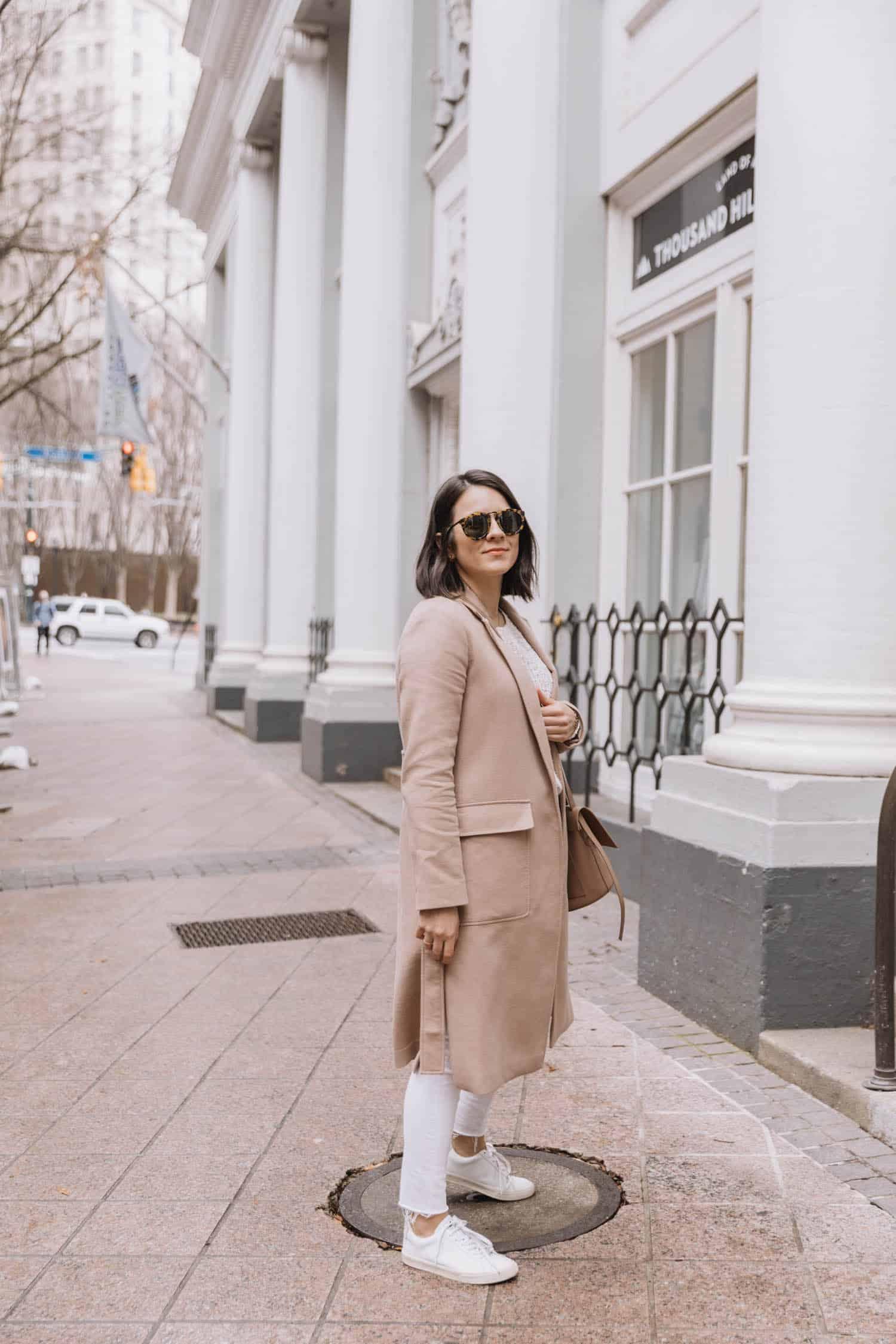 winter beige coat