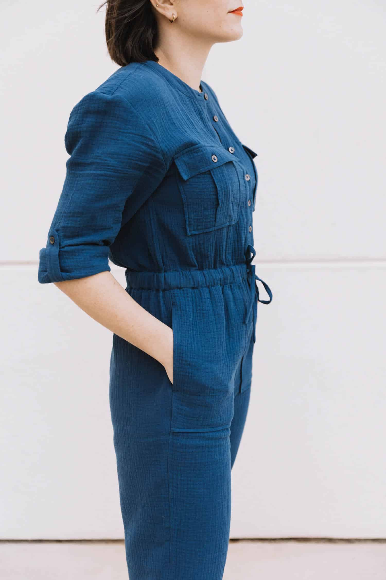 madewell cotton jumpsuit for spring
