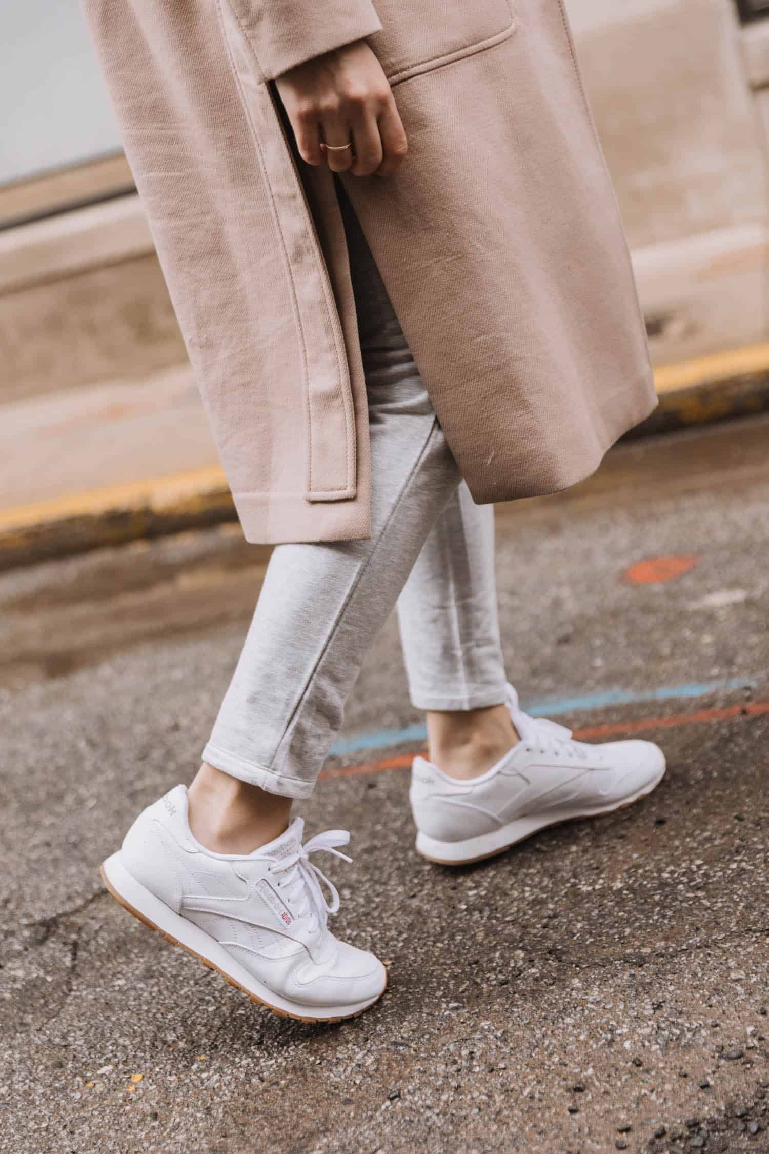 Reebok Sneakers and loungewear outfit