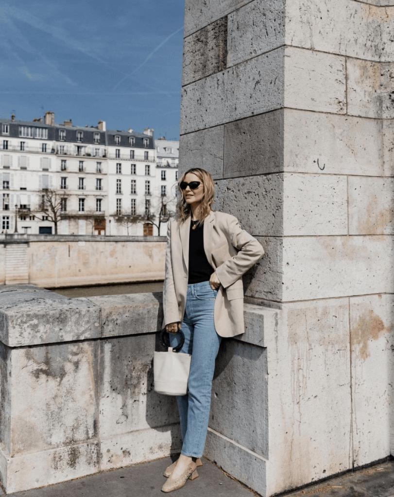 paris style blazer outfit