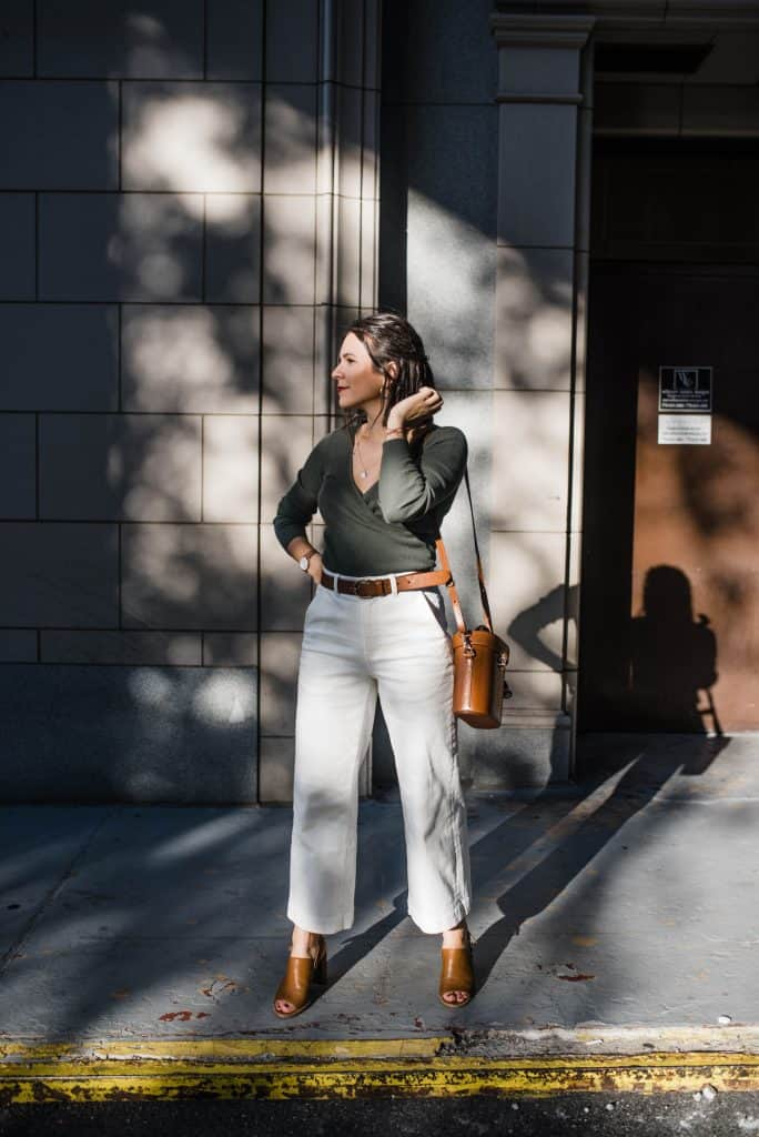 Wide Leg Crops office outfit
