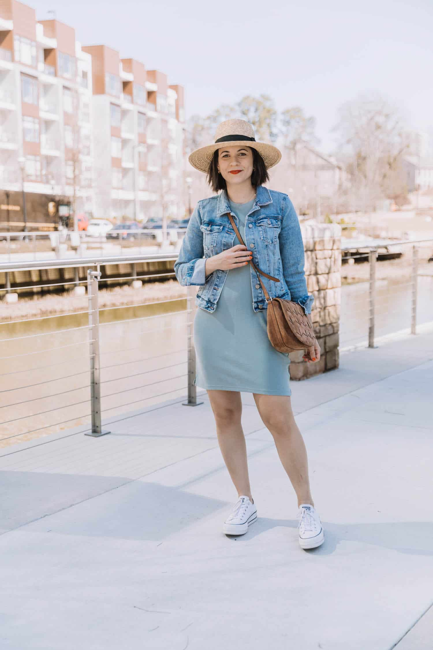 how to style $50 t-shirt dress Abercrombie & Fitch
