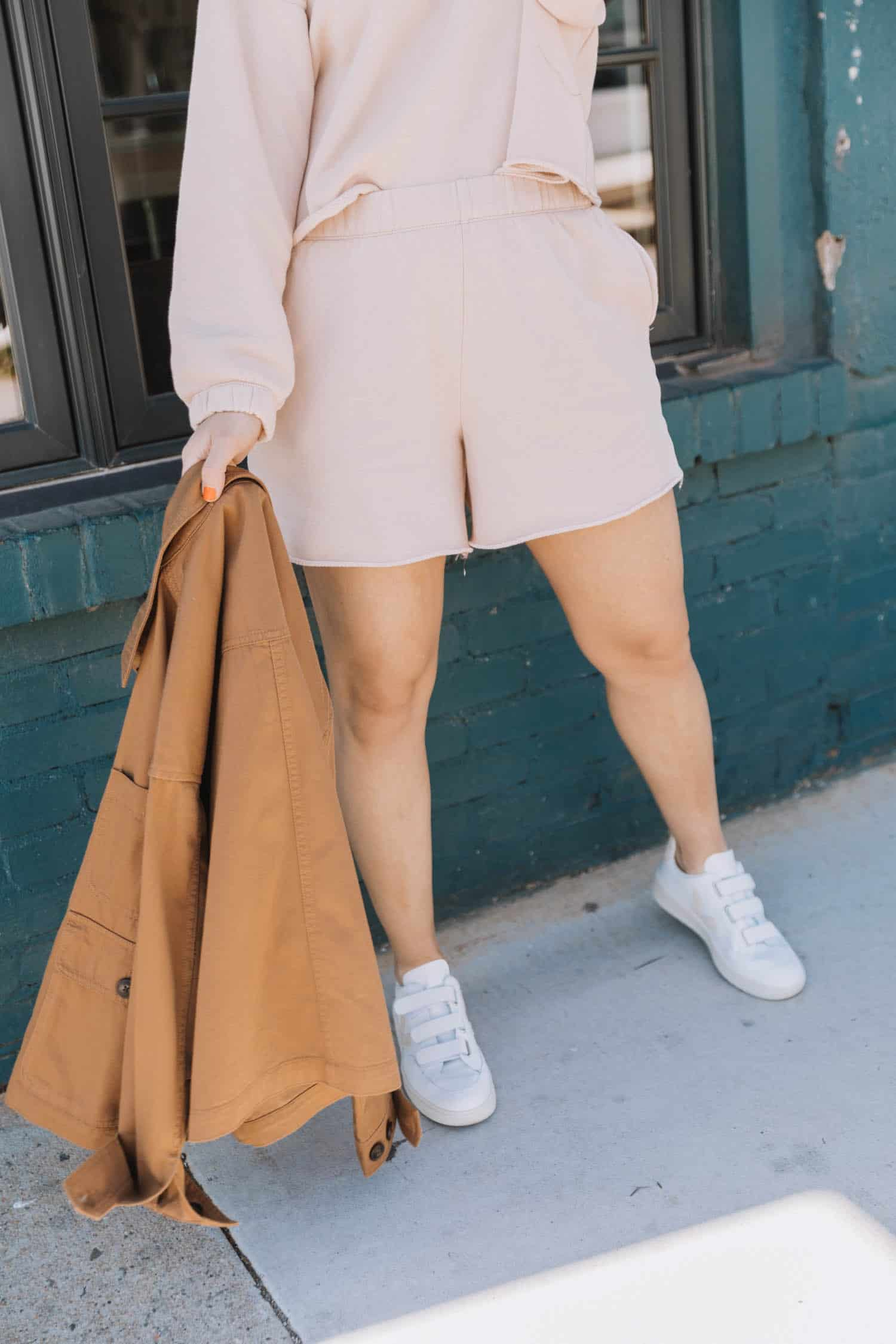 how to style shorts loungewear