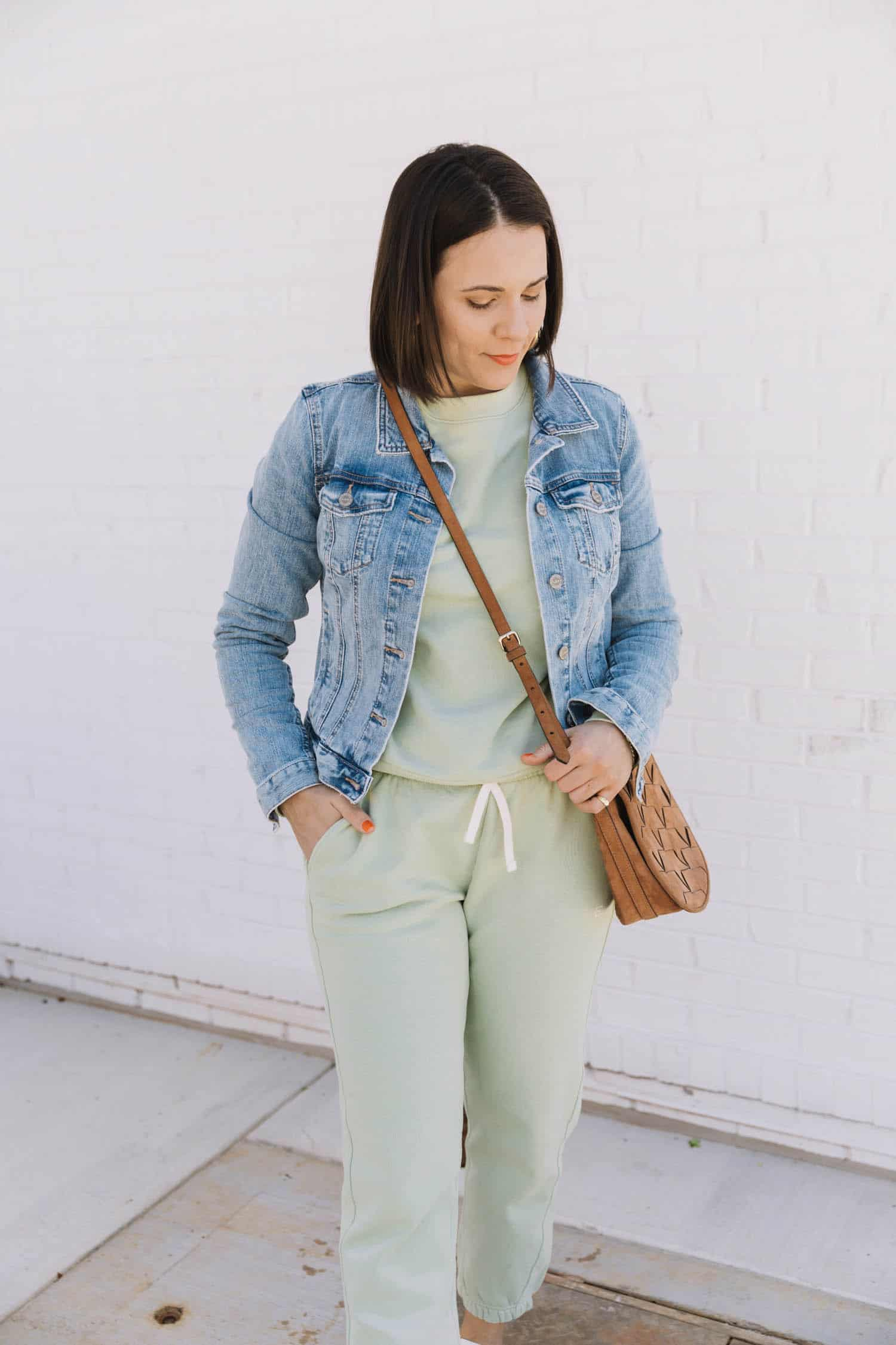 pastel green tracksuit | Color Crushing On Minty Green