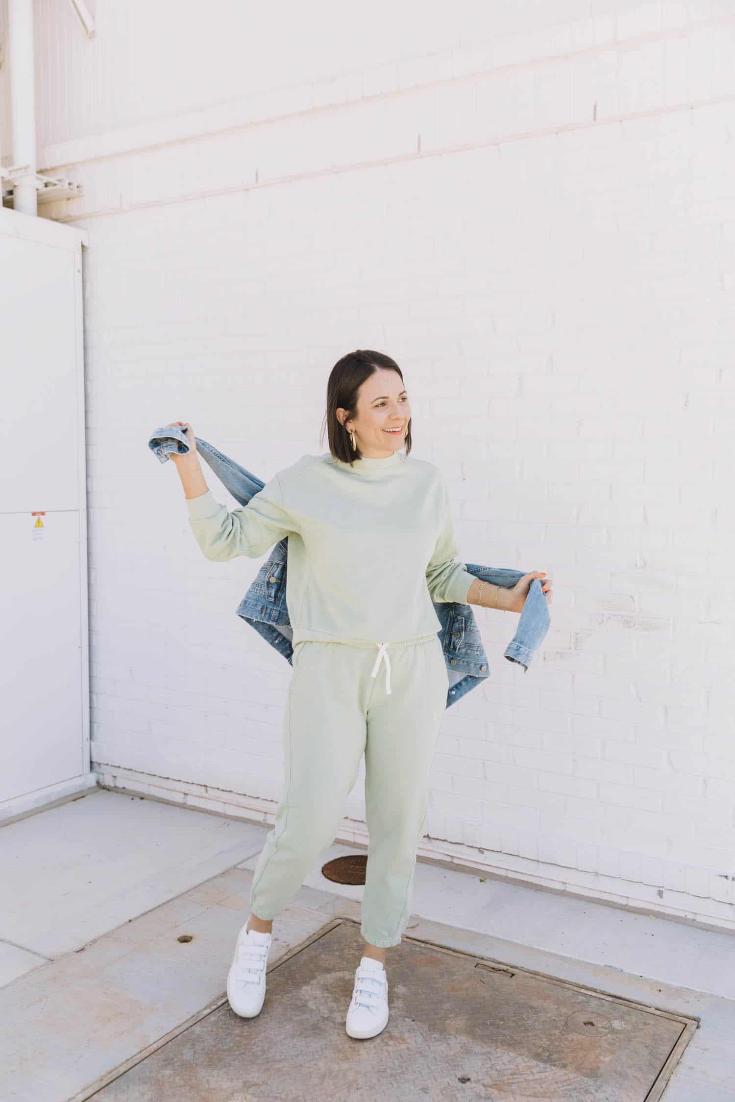 everlane green tracksuit