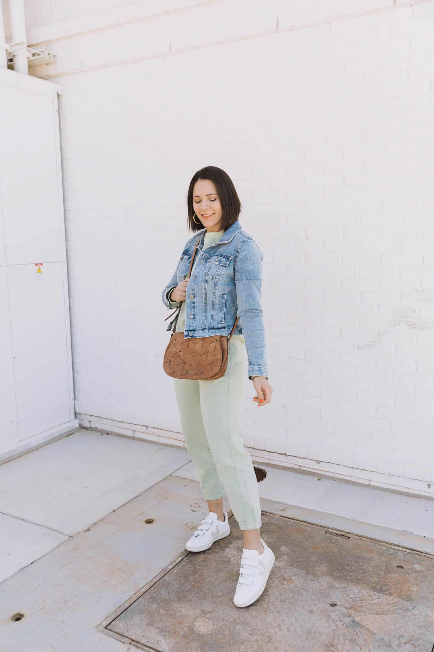 Everlane tracksuit | Color Crushing On Minty Green