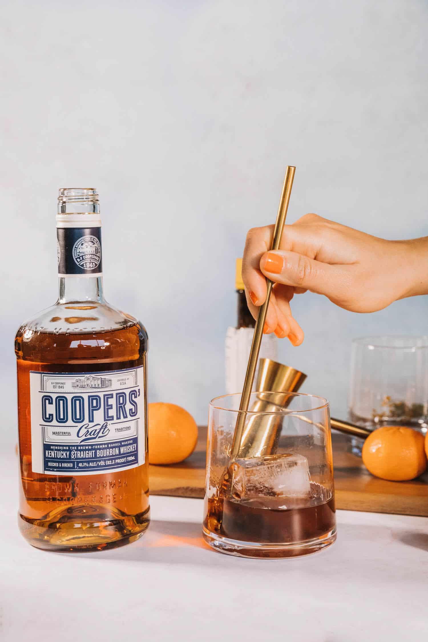 Mandarin Orange Old Fashioned Cocktail Recipe