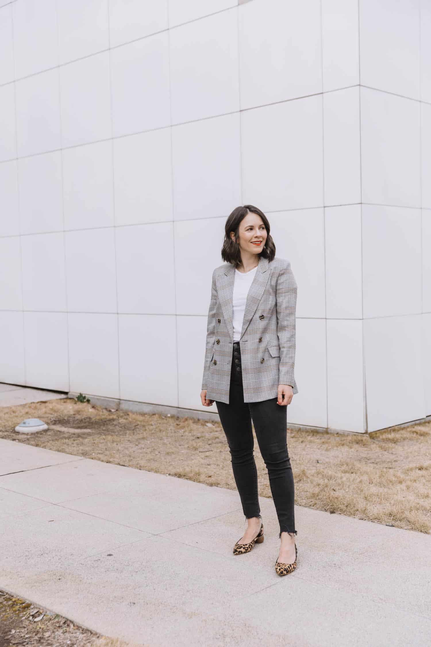 Business casual outfit with blazer