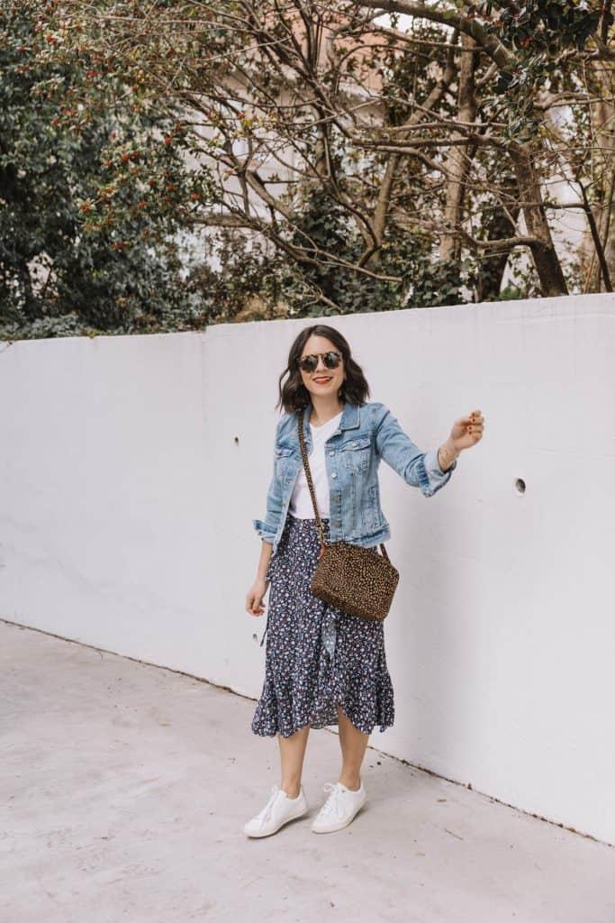 Cute Floral Midi Skirts