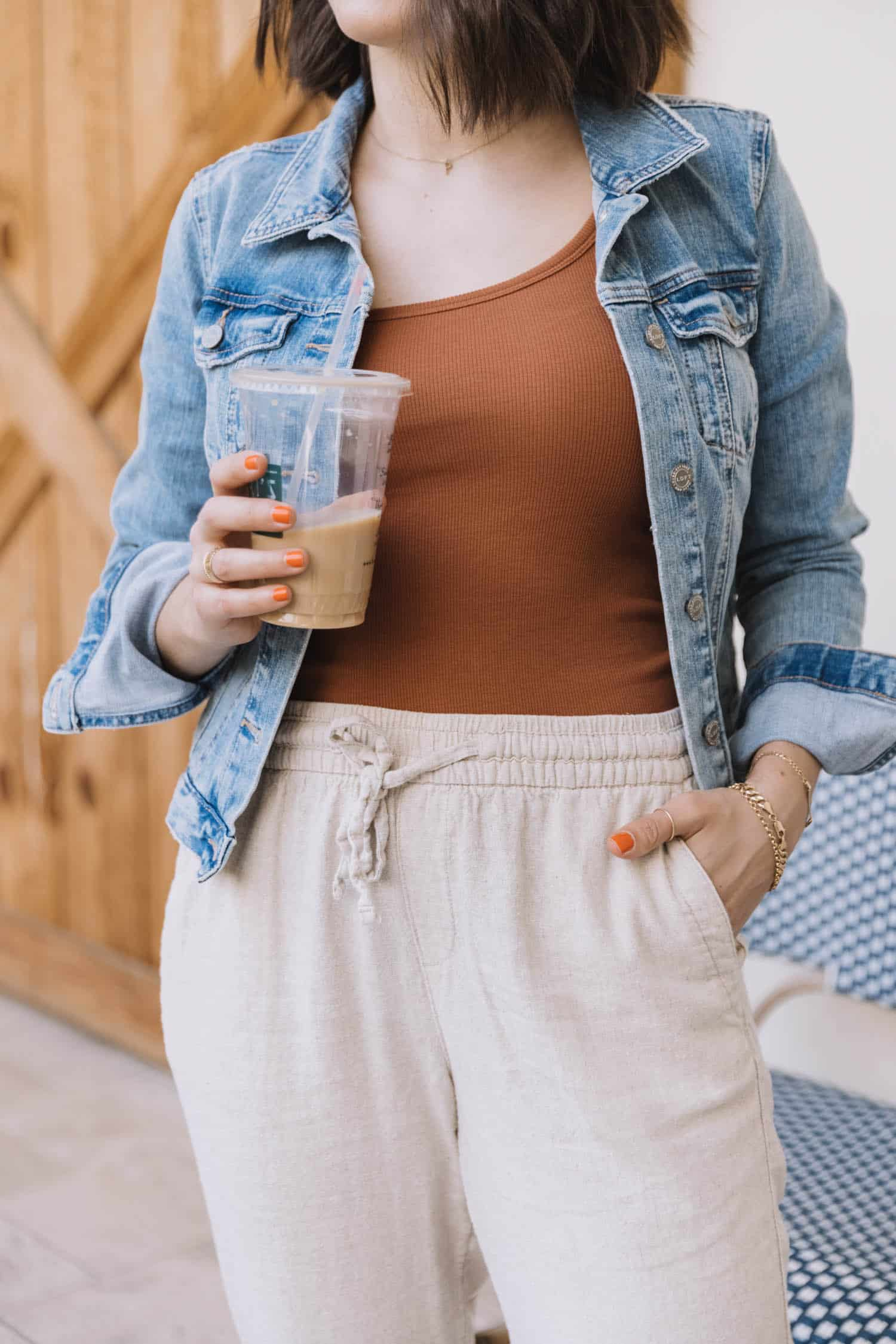 spring transition outfit idea