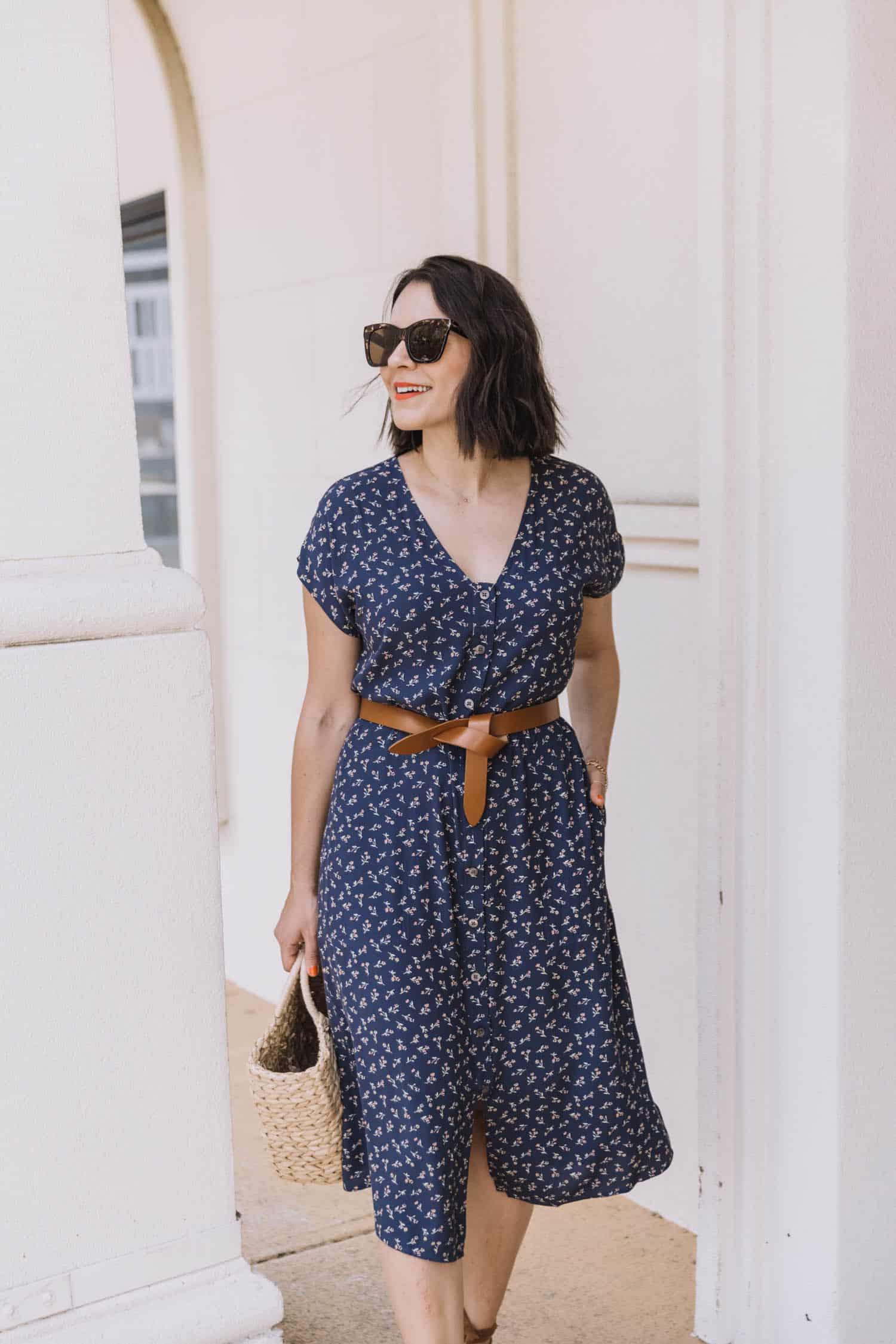 Madewell Midi Floral Dress
