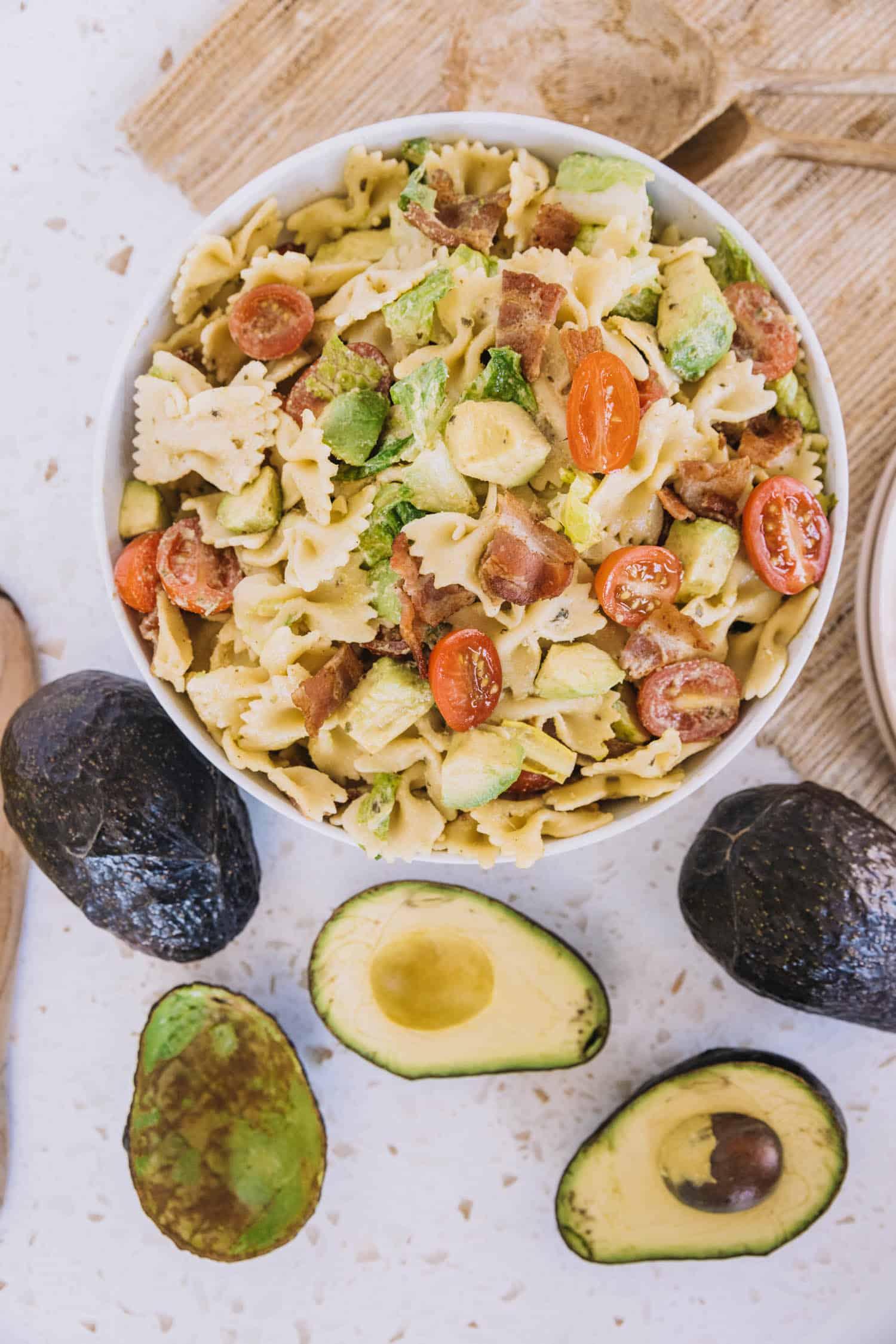 BLT & Avocado Pasta Salad