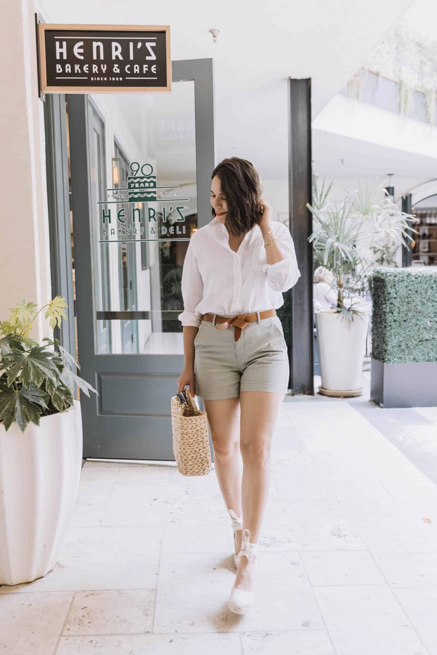 LOFT Sage twill shorts For Summer