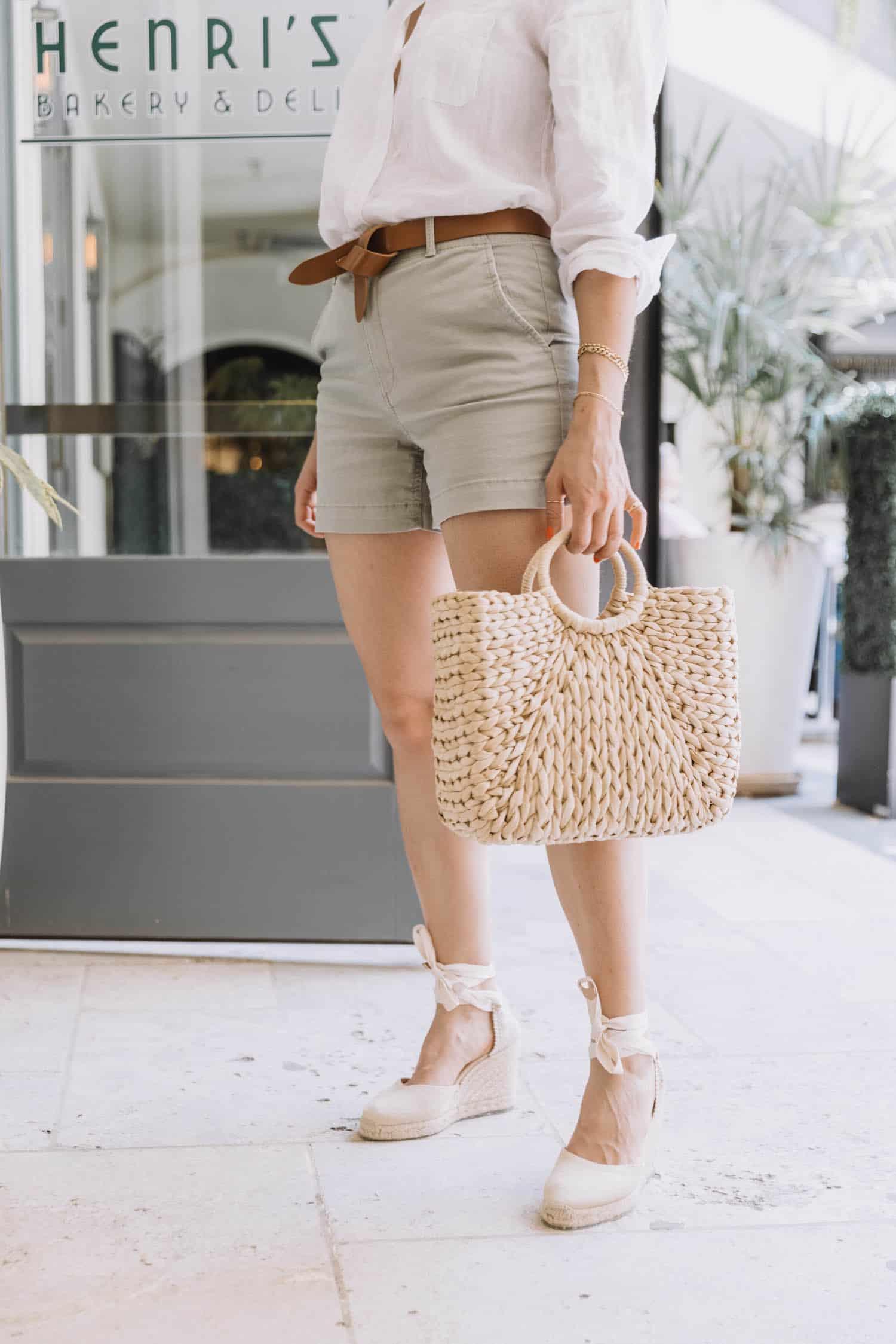 LOFT Sage twill shorts