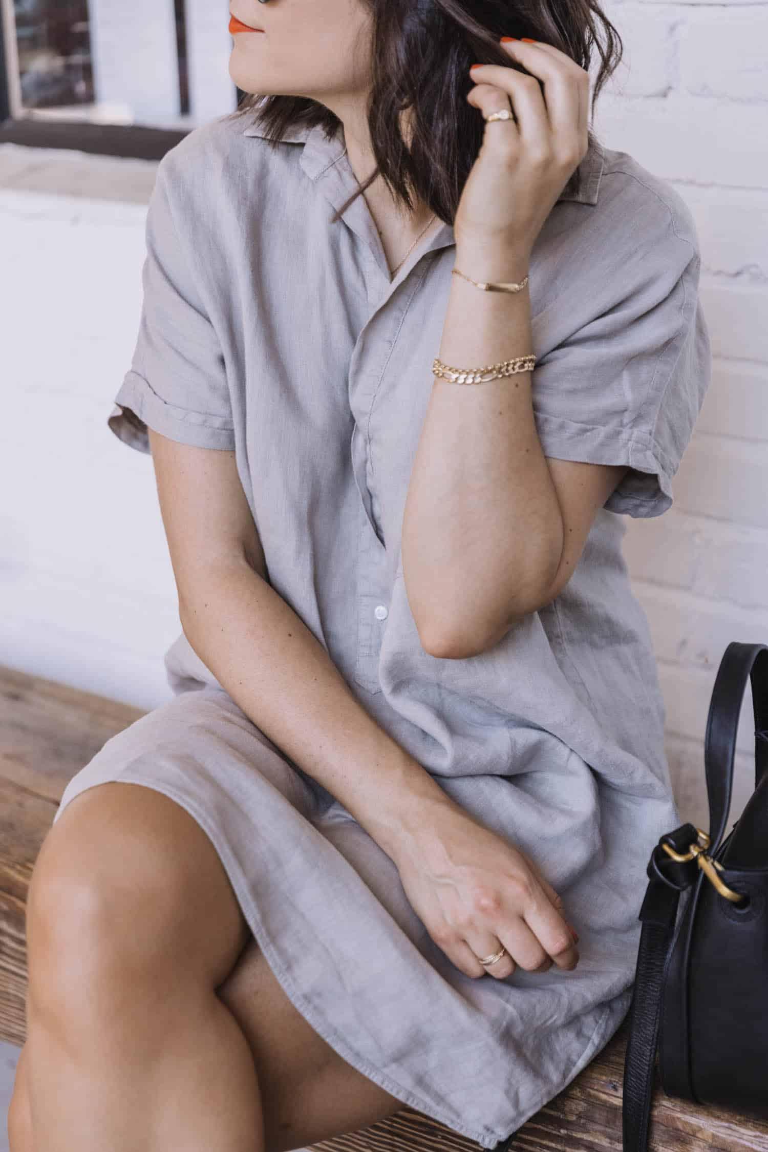 summer button-up shirt dress