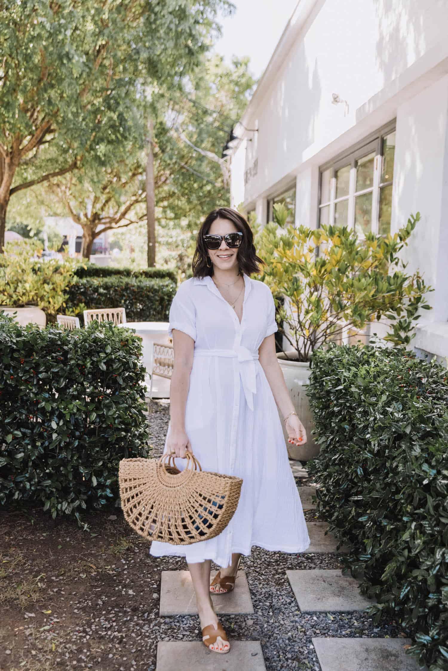 Xirena White Button Down Shirt Dresses