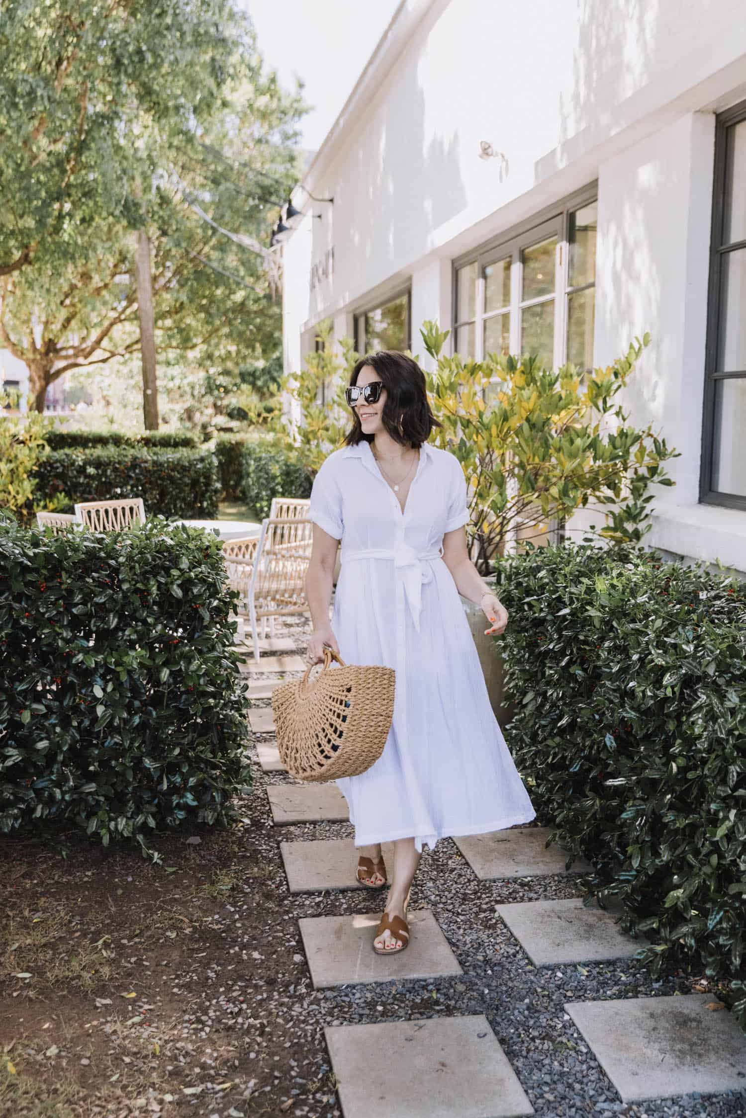 How to Wear White Button Down Shirt Dresses