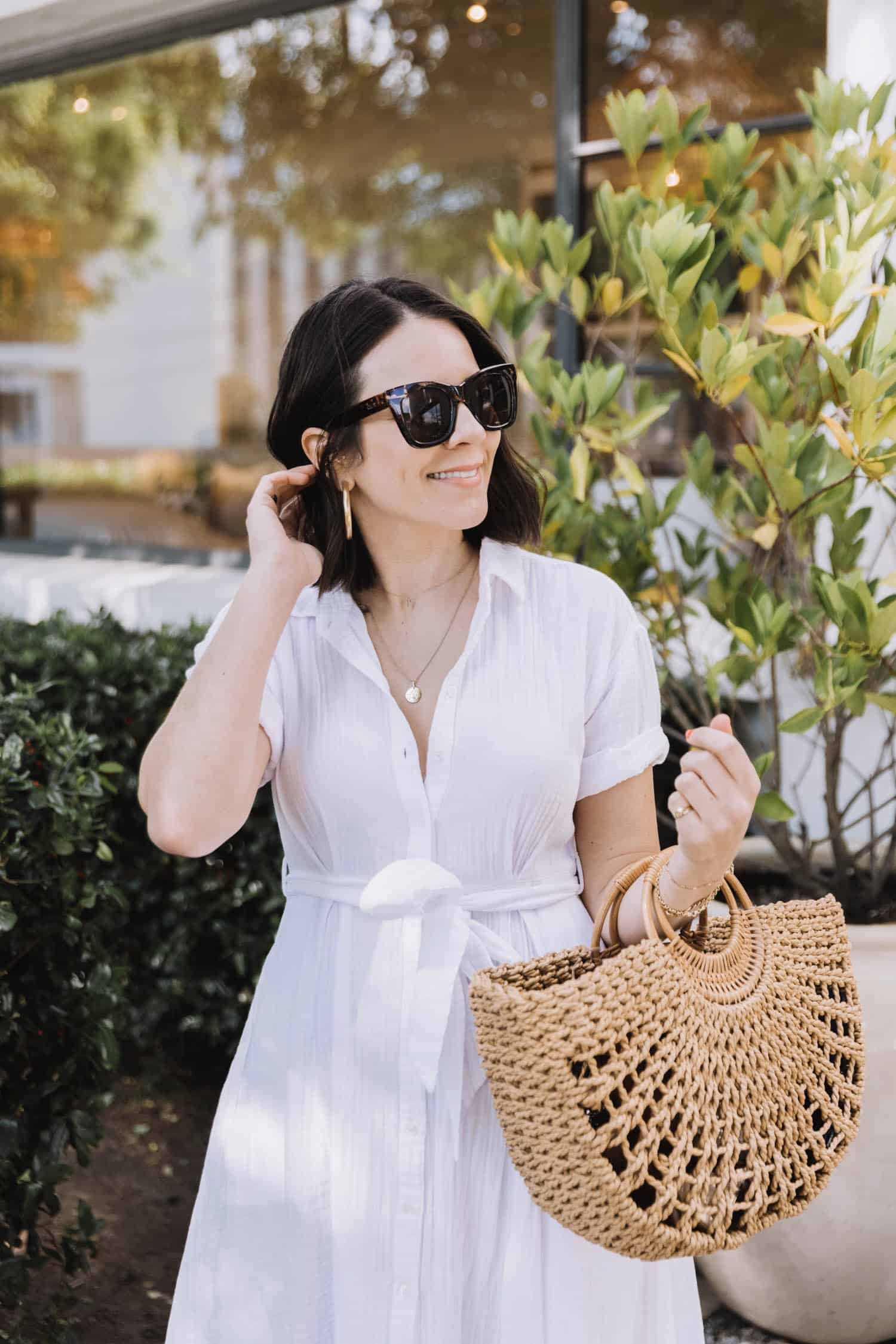 White Button Down Shirt Dresses