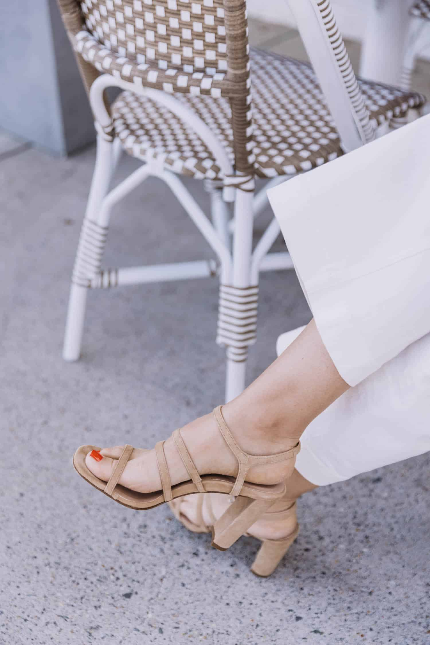 Inez heels neutral sandals