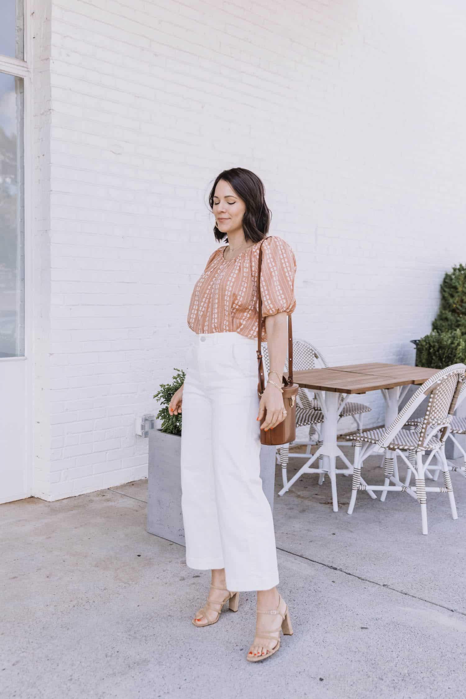 Bringing Back The White Crop Jean for Summer