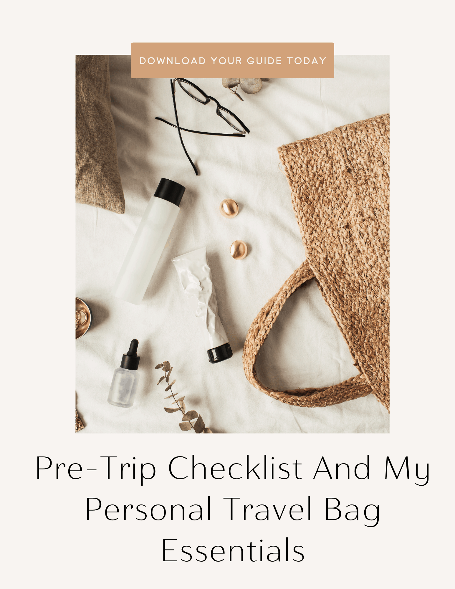 international travel check list, personal travel bag checklist
