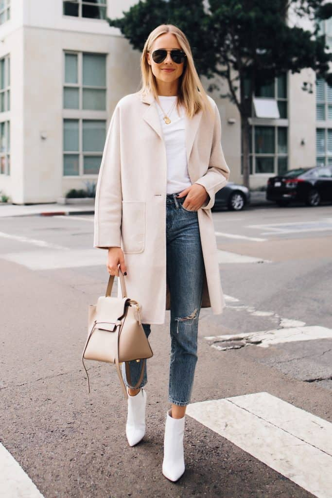 White boots outfit idea