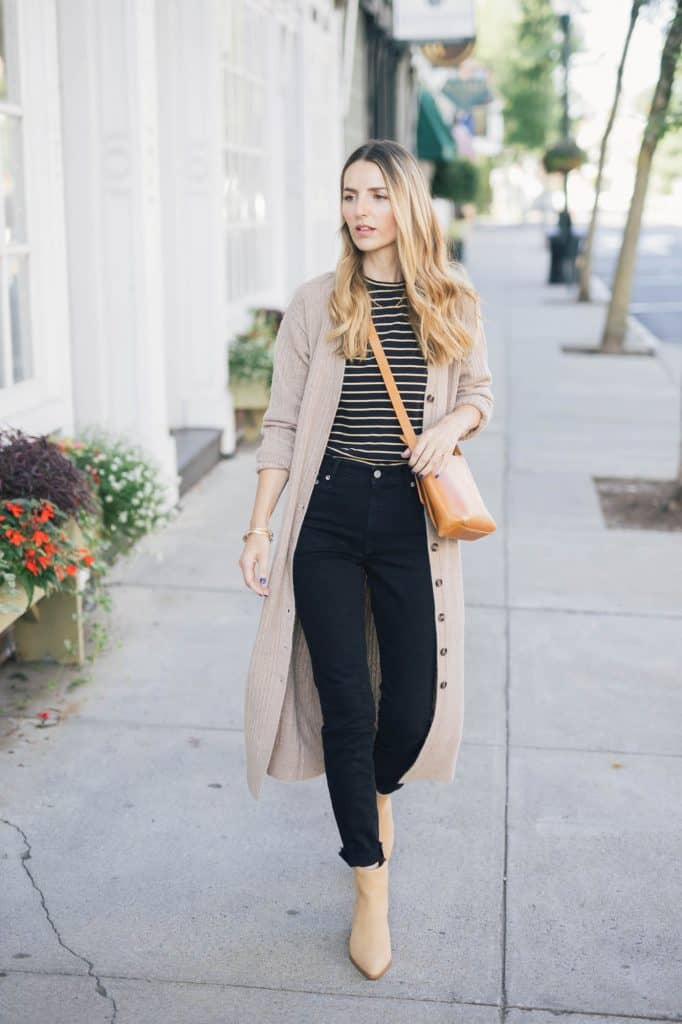 How To Wear A Long Cardigan for Fall