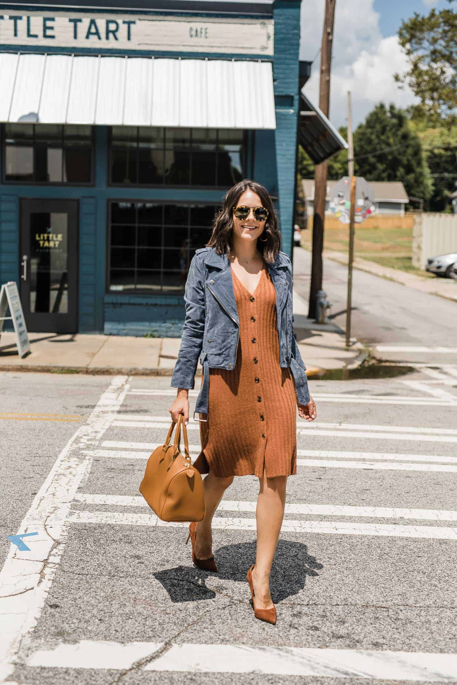Suede Jackets With Fall Dresses