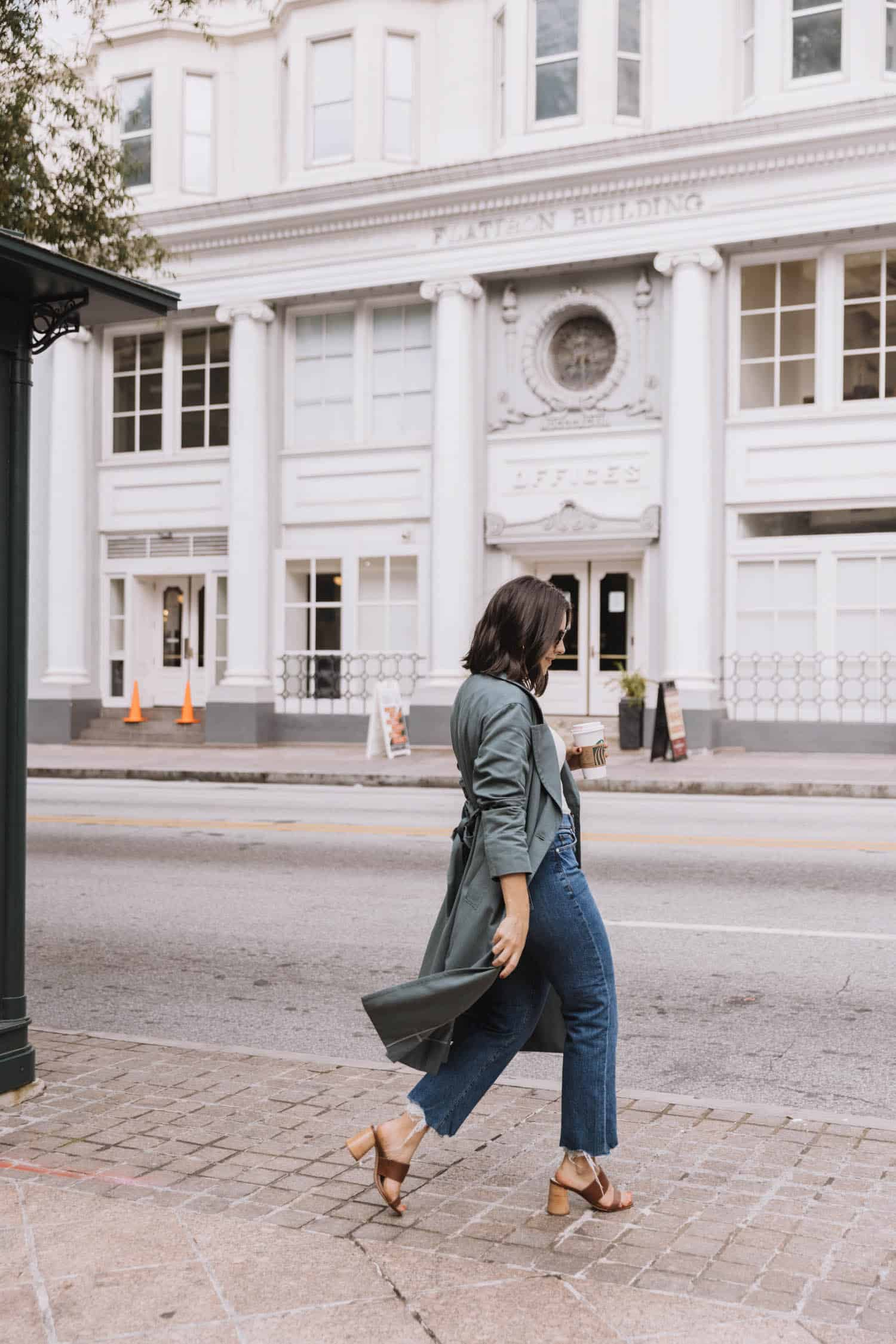 Everlane trench coat for fall